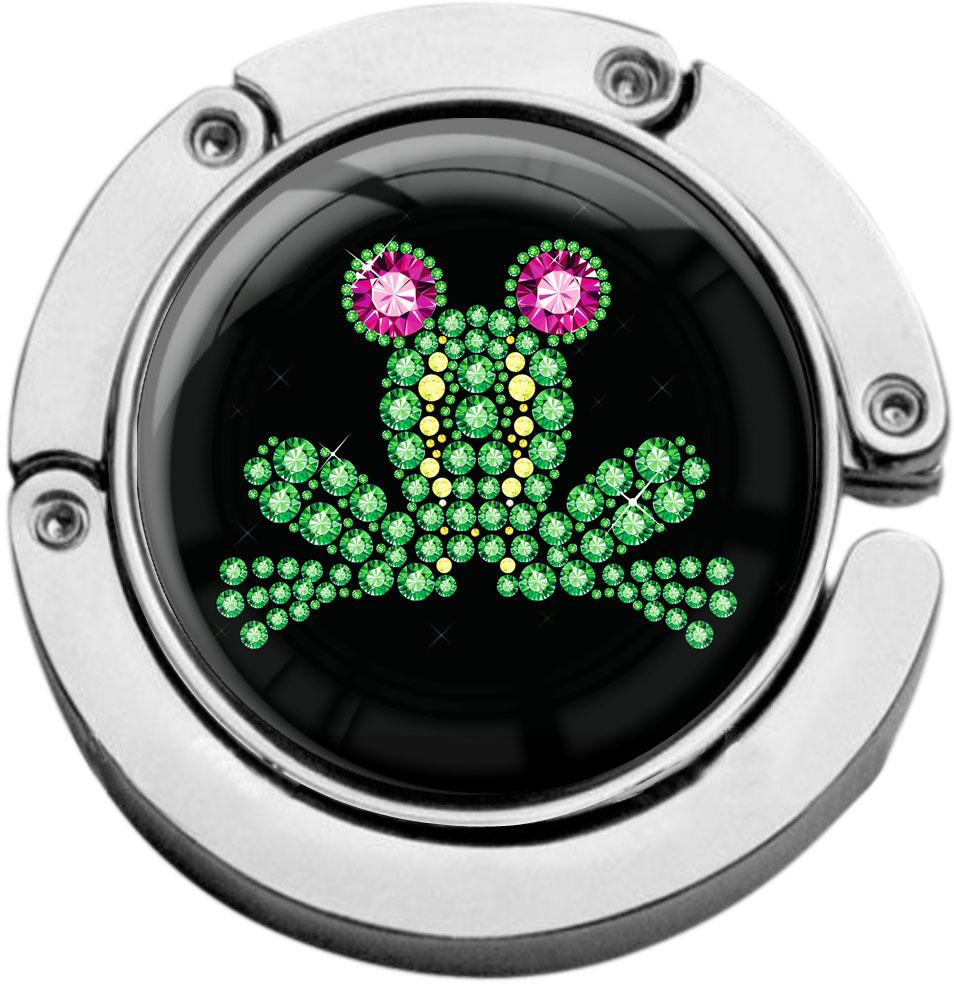 """metALUm Taschenaufhänger in runder Form """"Frosch"""""""