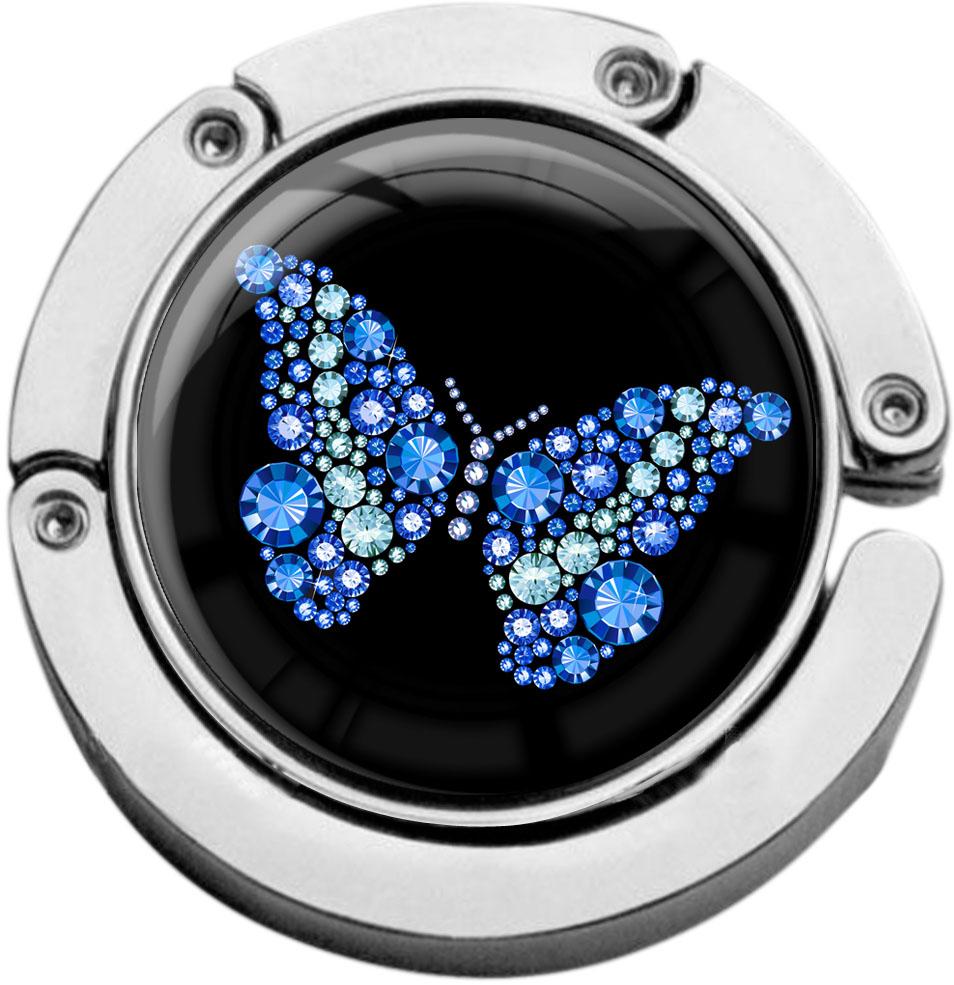 """metALUm Taschenaufhänger in runder Form """"Schmetterling"""""""
