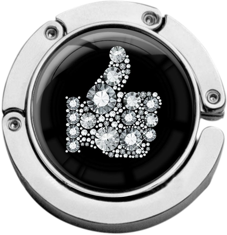 """metALUm Taschenaufhänger in runder Form """"Like in Silber"""""""