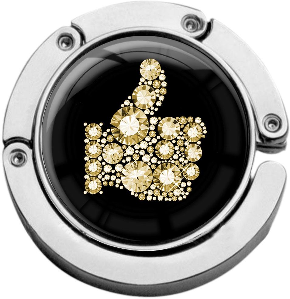 """metALUm Taschenaufhänger in runder Form """"Like in Gold"""""""