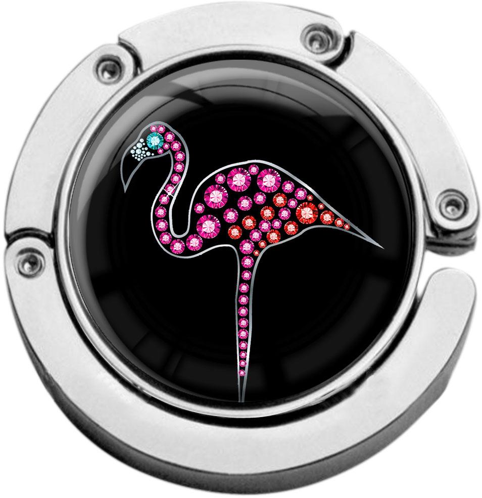 """metALUm Taschenaufhänger in runder Form """"Flamingo"""""""