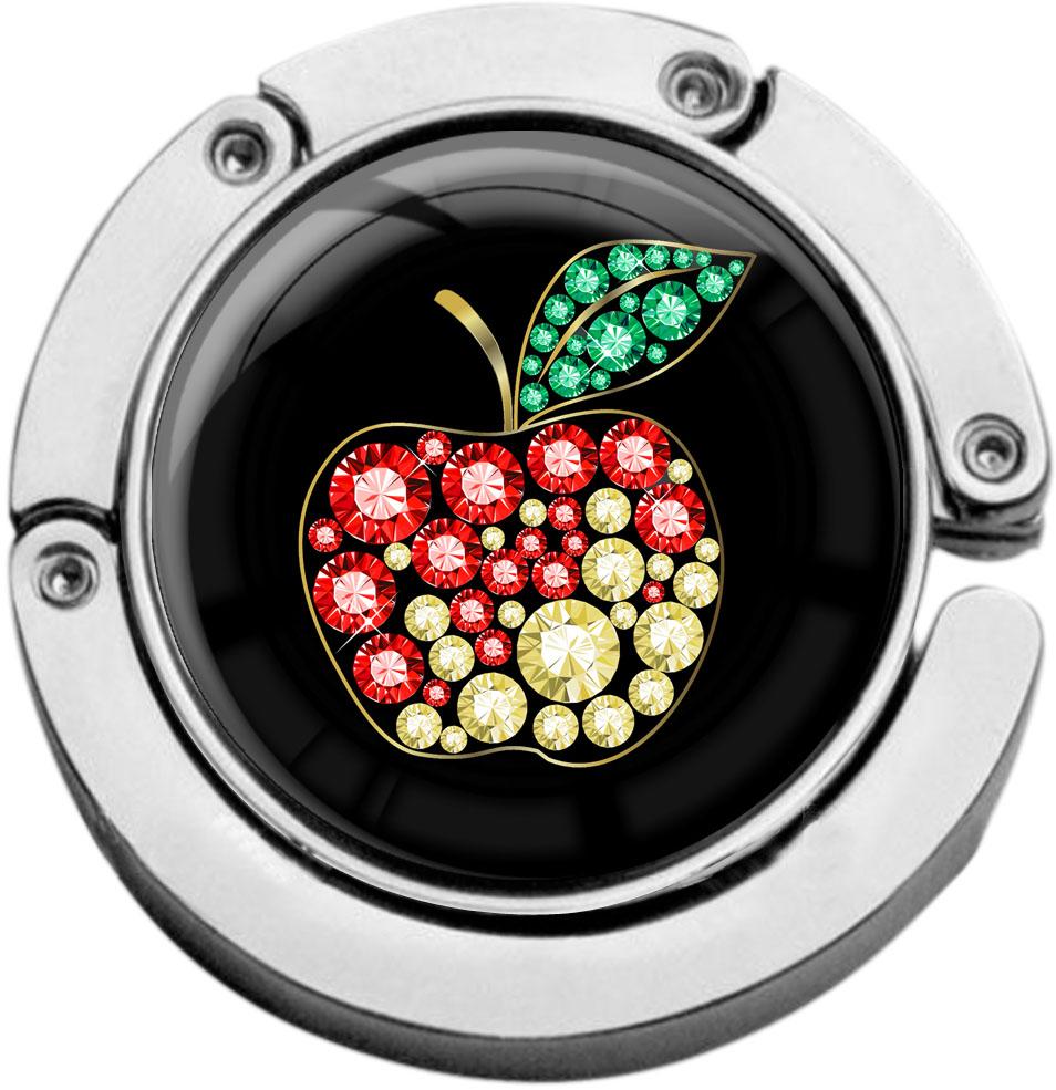 """metALUm Taschenaufhänger in runder Form """"Apfel"""""""