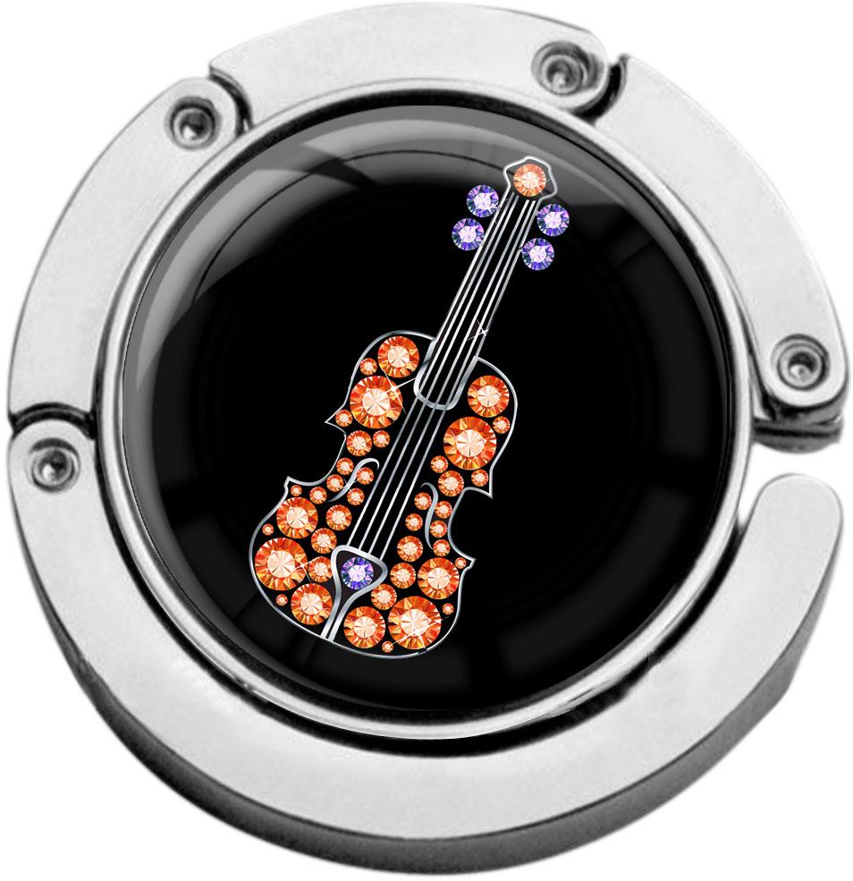"""metALUm Taschenaufhänger in runder Form """"Gitarre"""""""