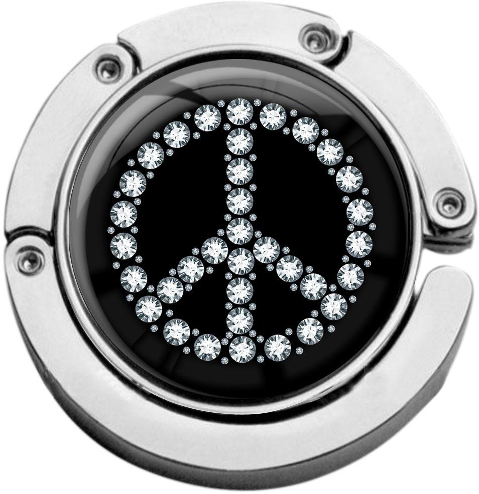 "metALUm Taschenaufhänger in runder Form ""Peace Symbol"""