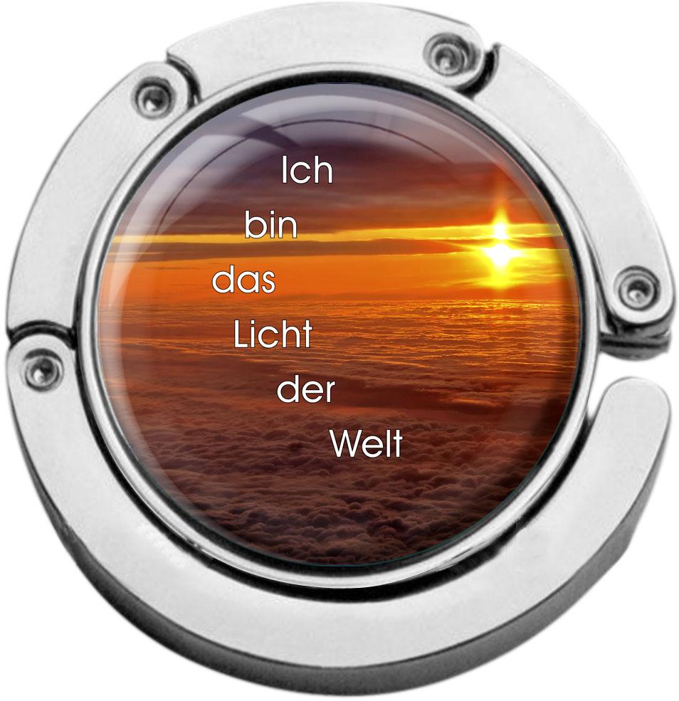 """metALUm Taschenaufhänger in runder Form """"Christlich"""""""