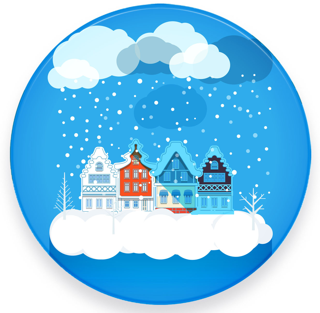 """metALUm - Premium Untersetzer - 4er Set in runder Form """"Weihnachten"""""""