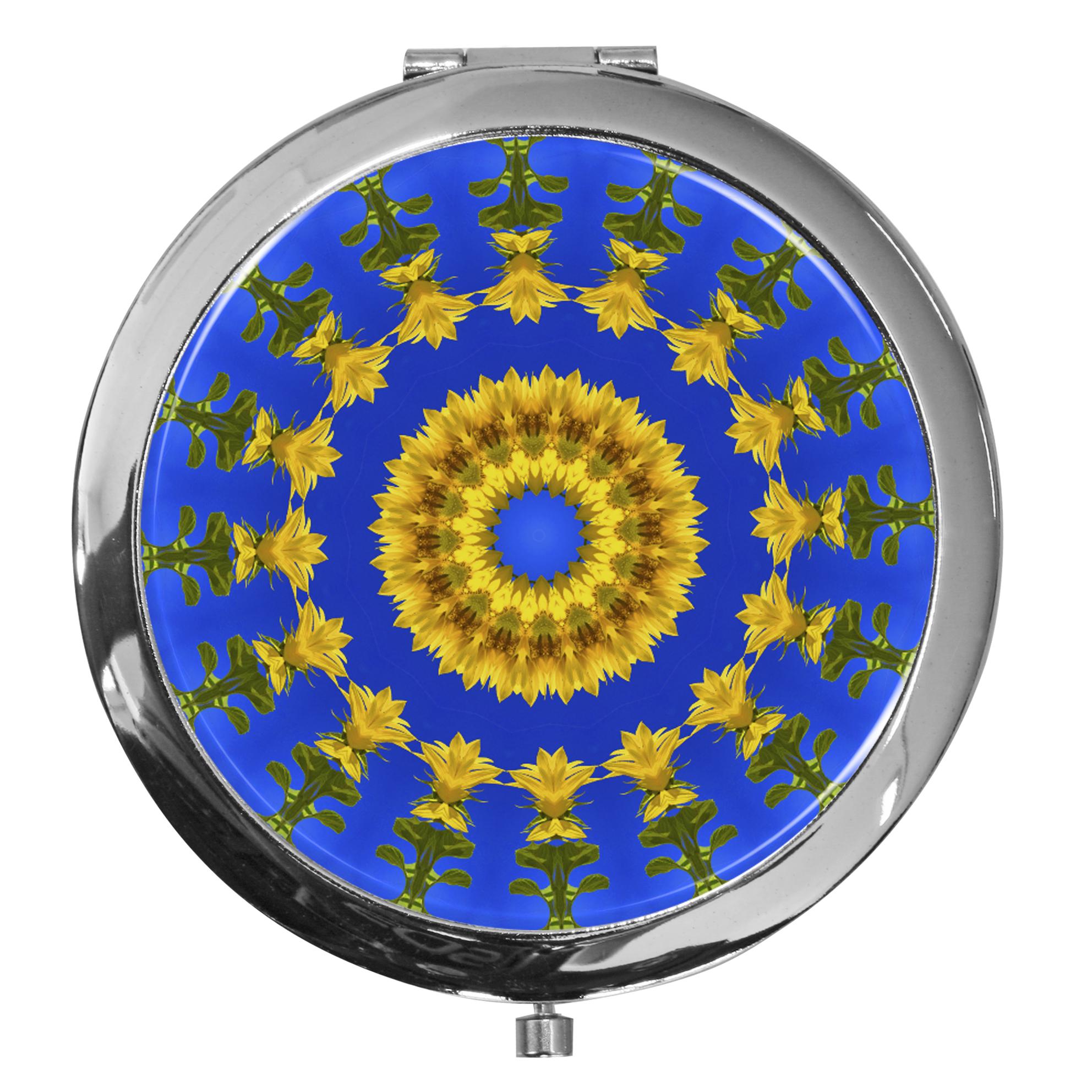 """metALUm - Extragroße Pillendose in runder Form """"Kaleidoskop"""""""