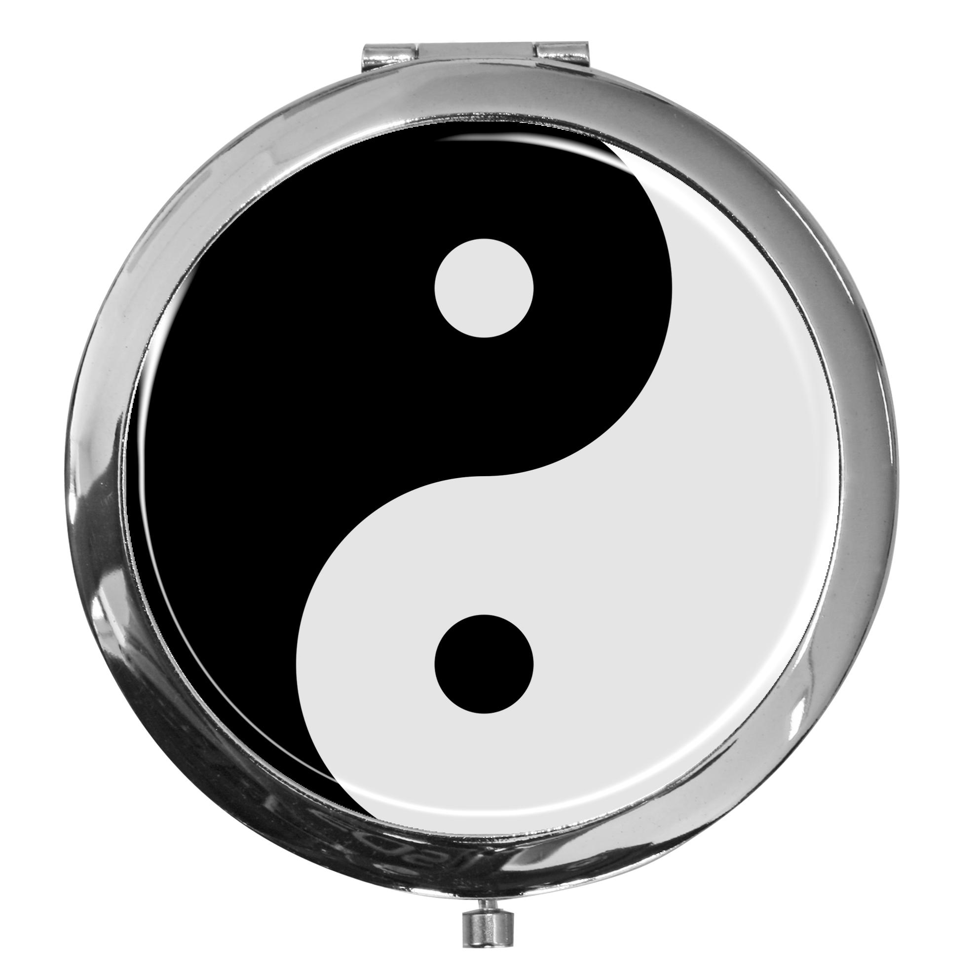 "metALUm - Extragroße Pillendose in runder Form ""Ying Yang"""