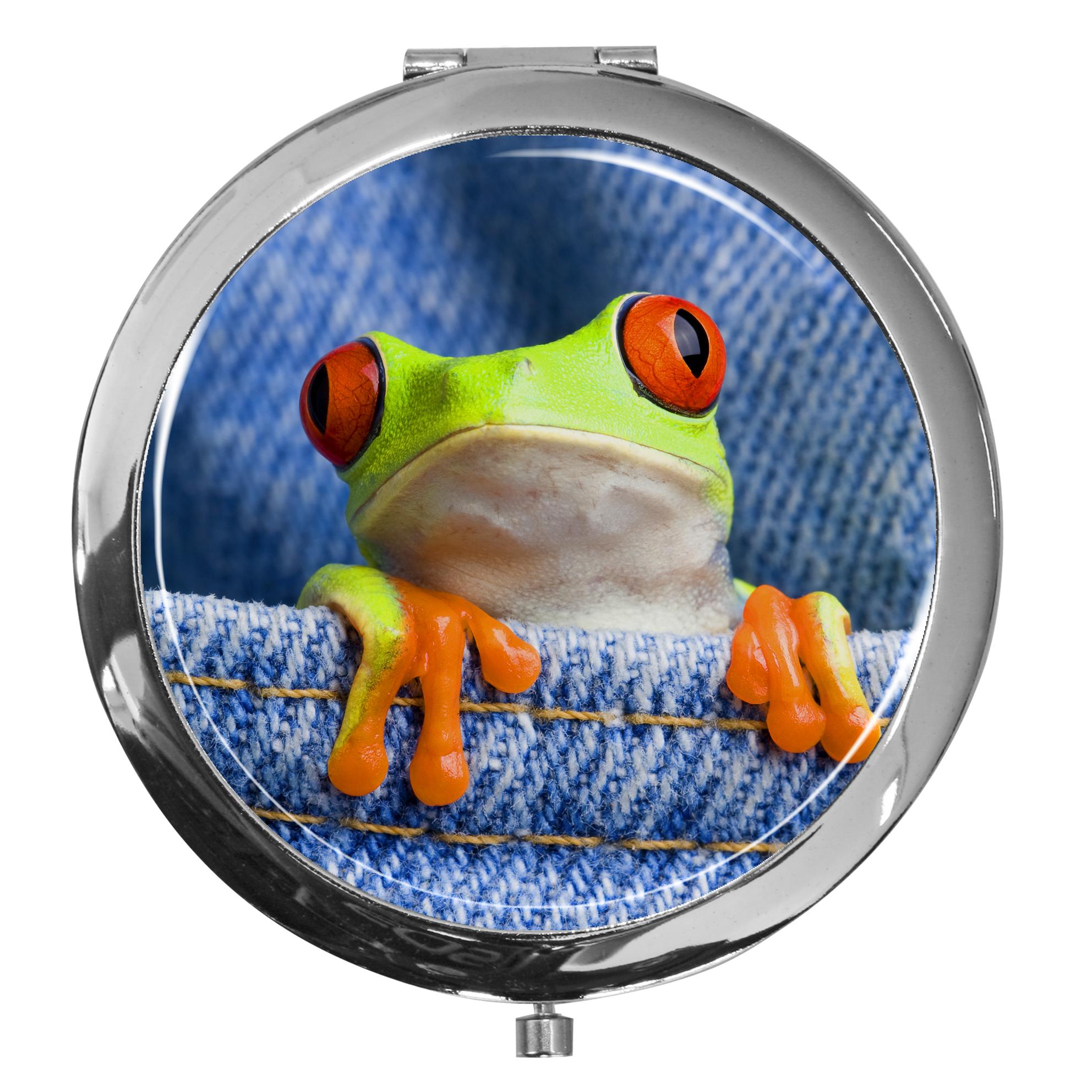 "metALUm - Extragroße Pillendose in runder Form ""Frosch"""