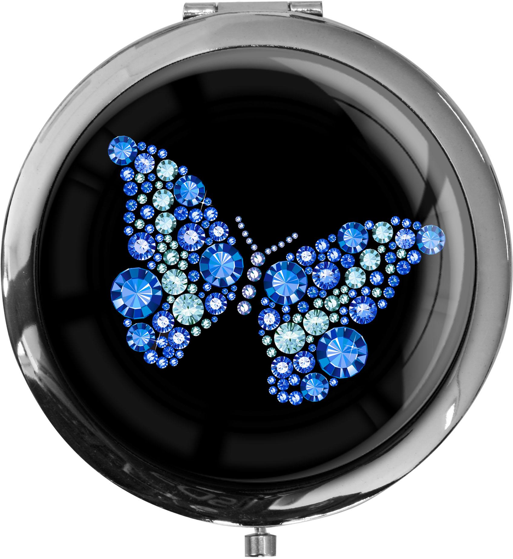 "metALUm - Extragroße Pillendose in runder Form ""Schmetterling"""