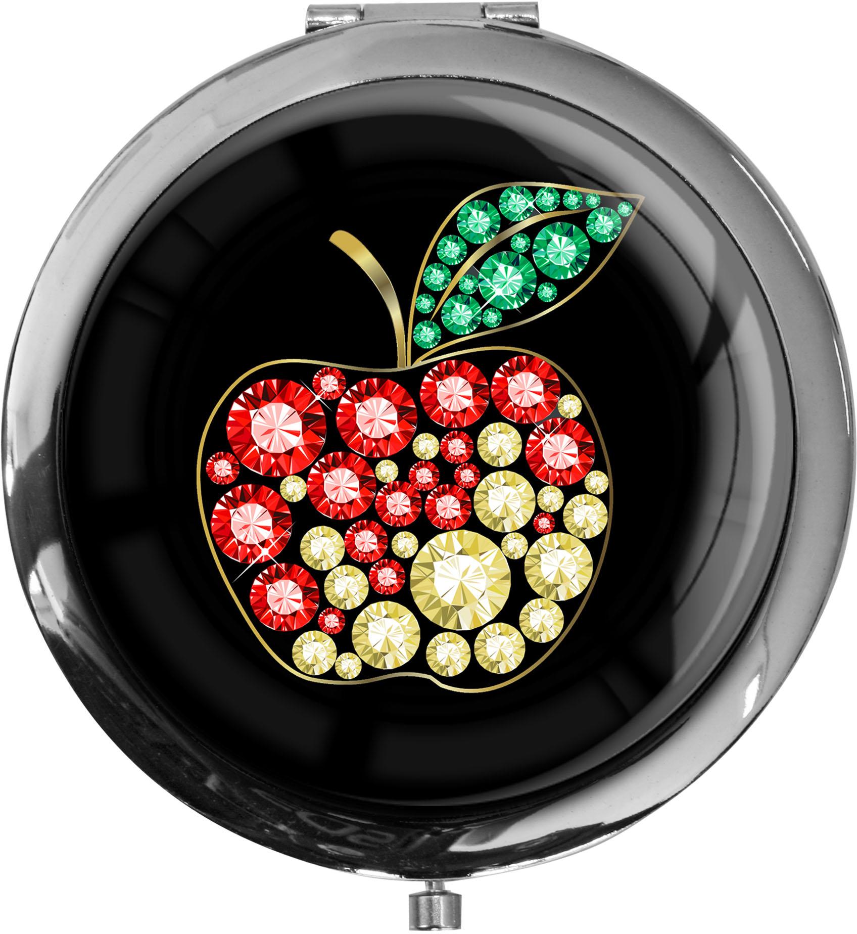 """metALUm - Extragroße Pillendose in runder Form """"Apfel"""""""