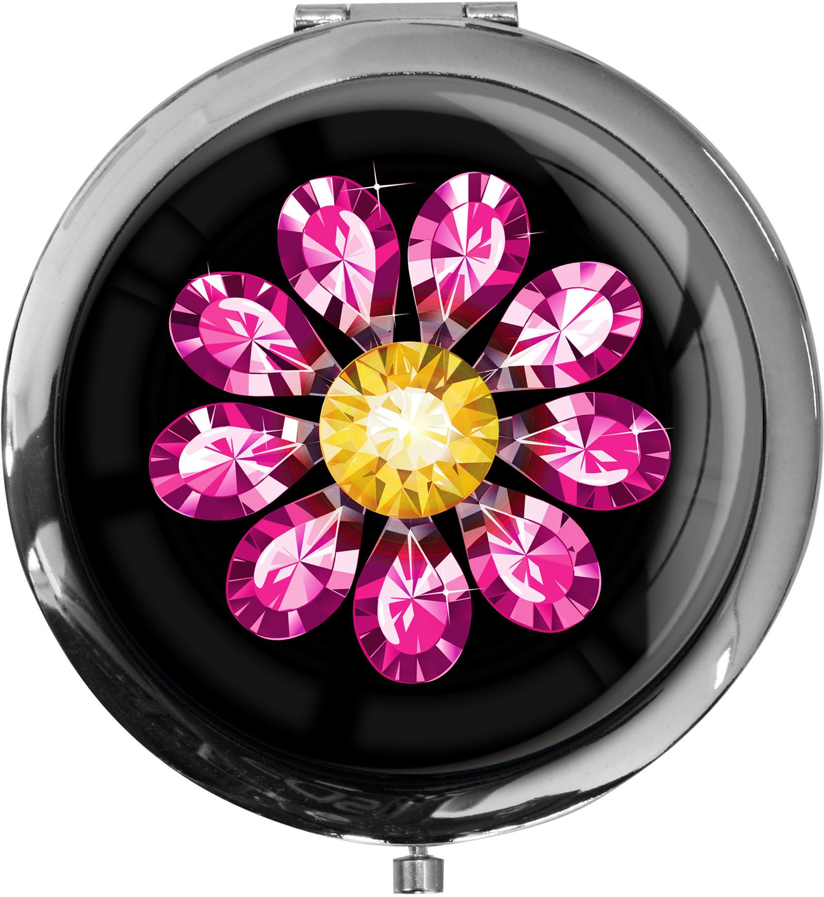 "metALUm - Extragroße Pillendose in runder Form ""Blume"""