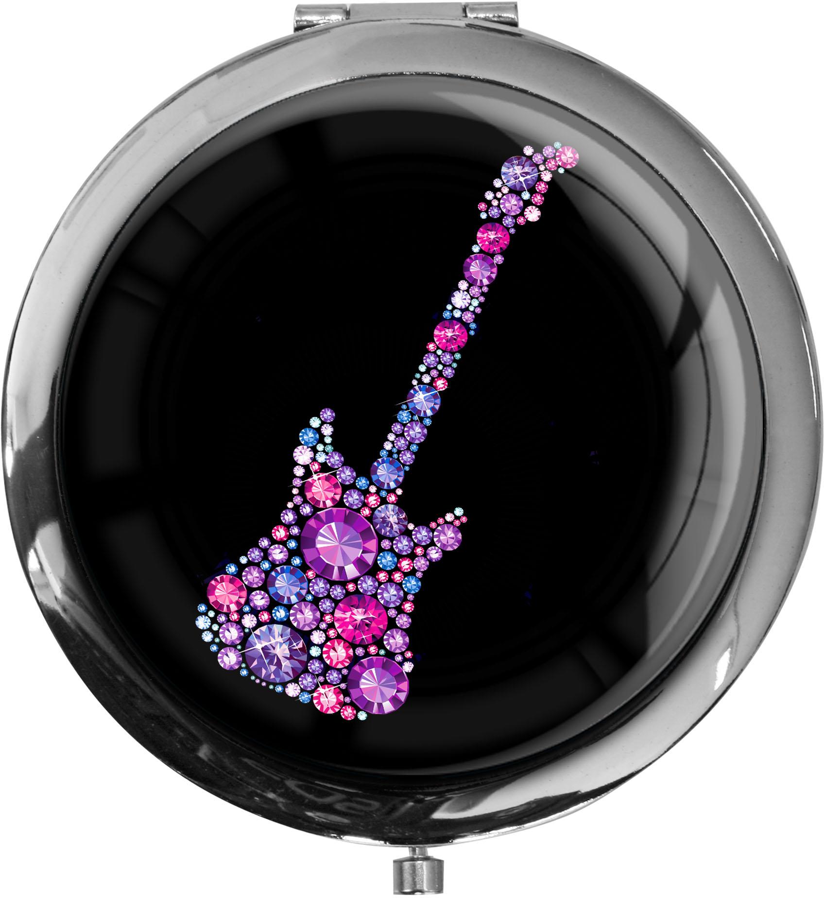 "metALUm - Extragroße Pillendose in runder Form ""Gitarre"""