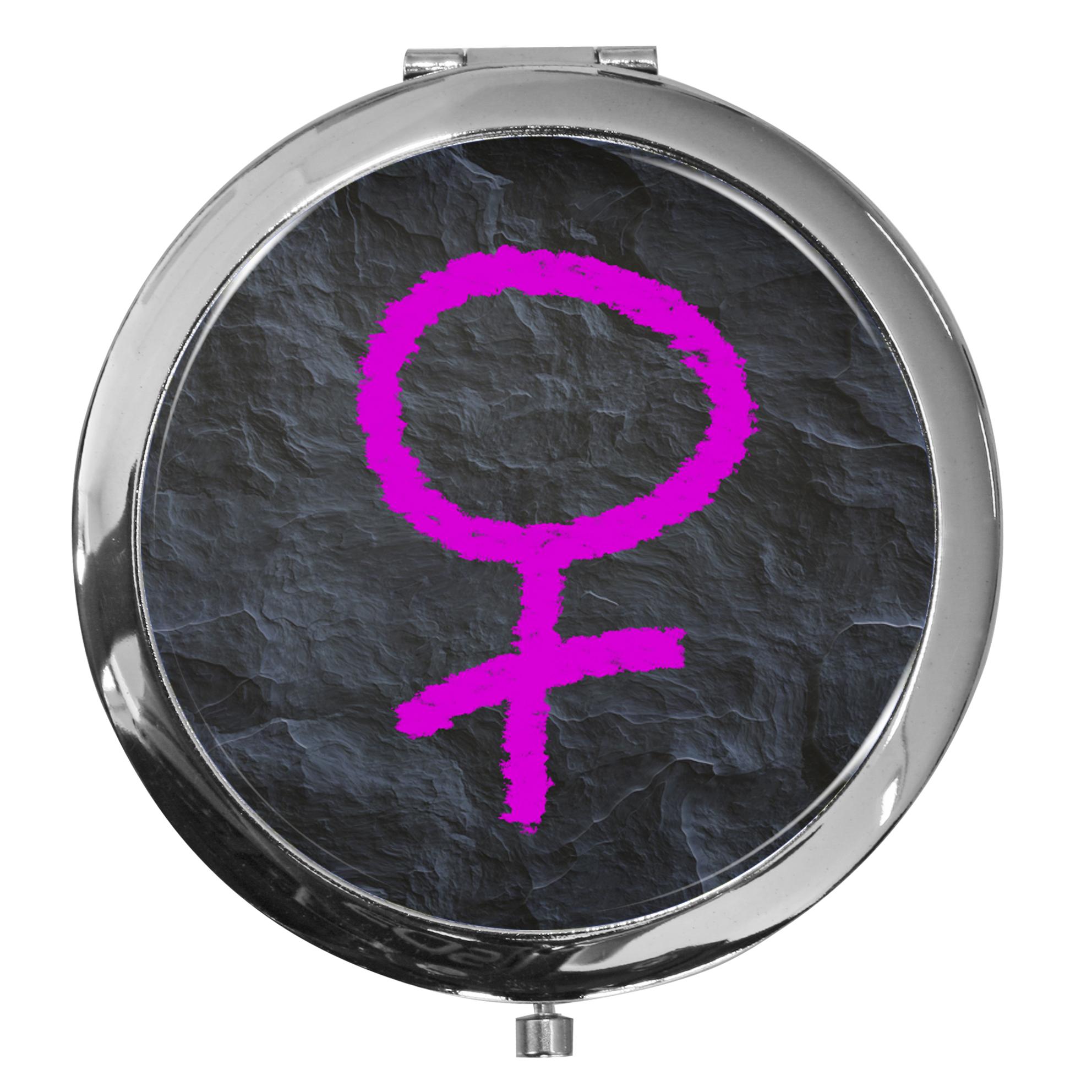 "metALUm - Extragroße Pillendose in runder Form ""Venussymbol"""
