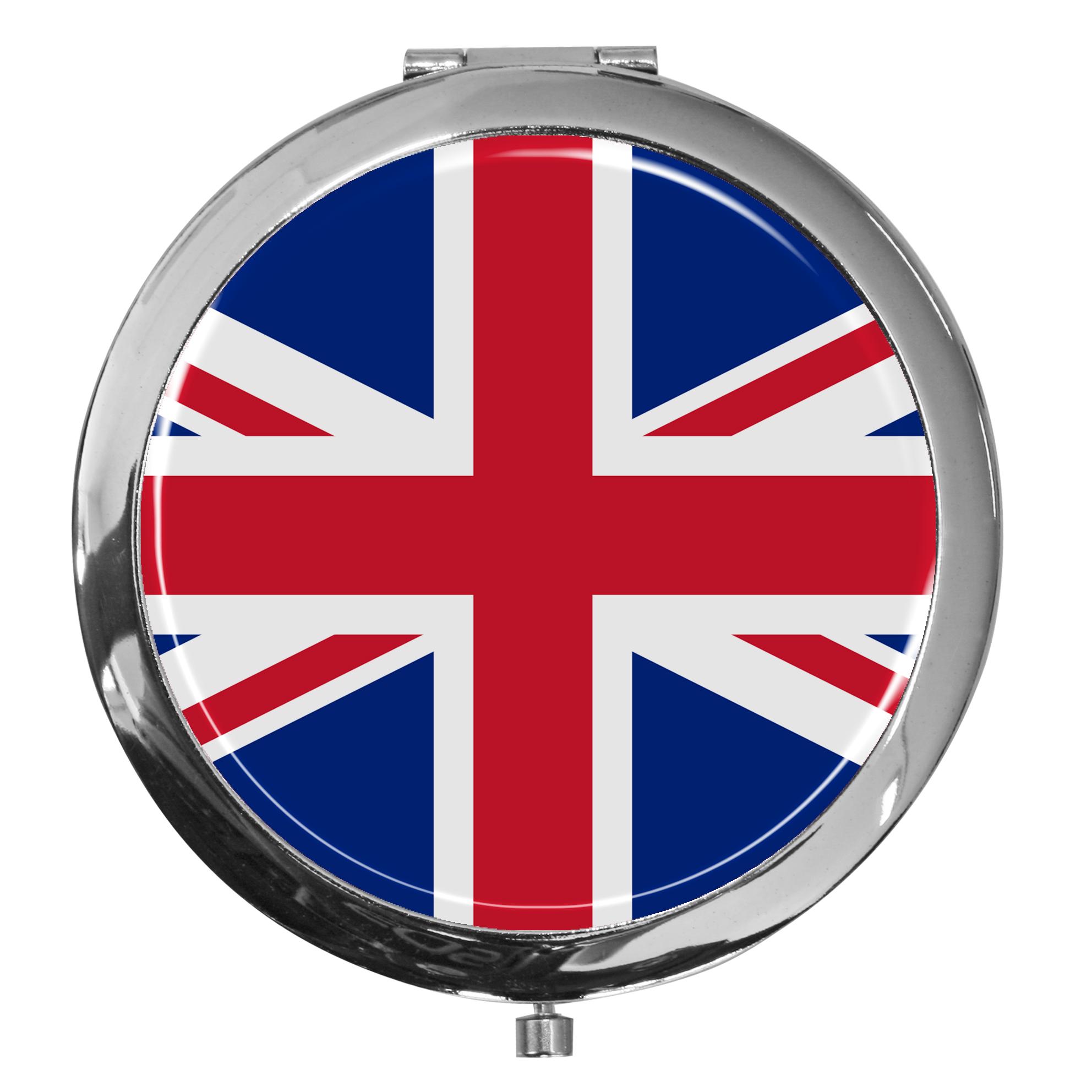 """metALUm - Extragroße Pillendose in runder Form """"Flagge Groß Britannien"""""""