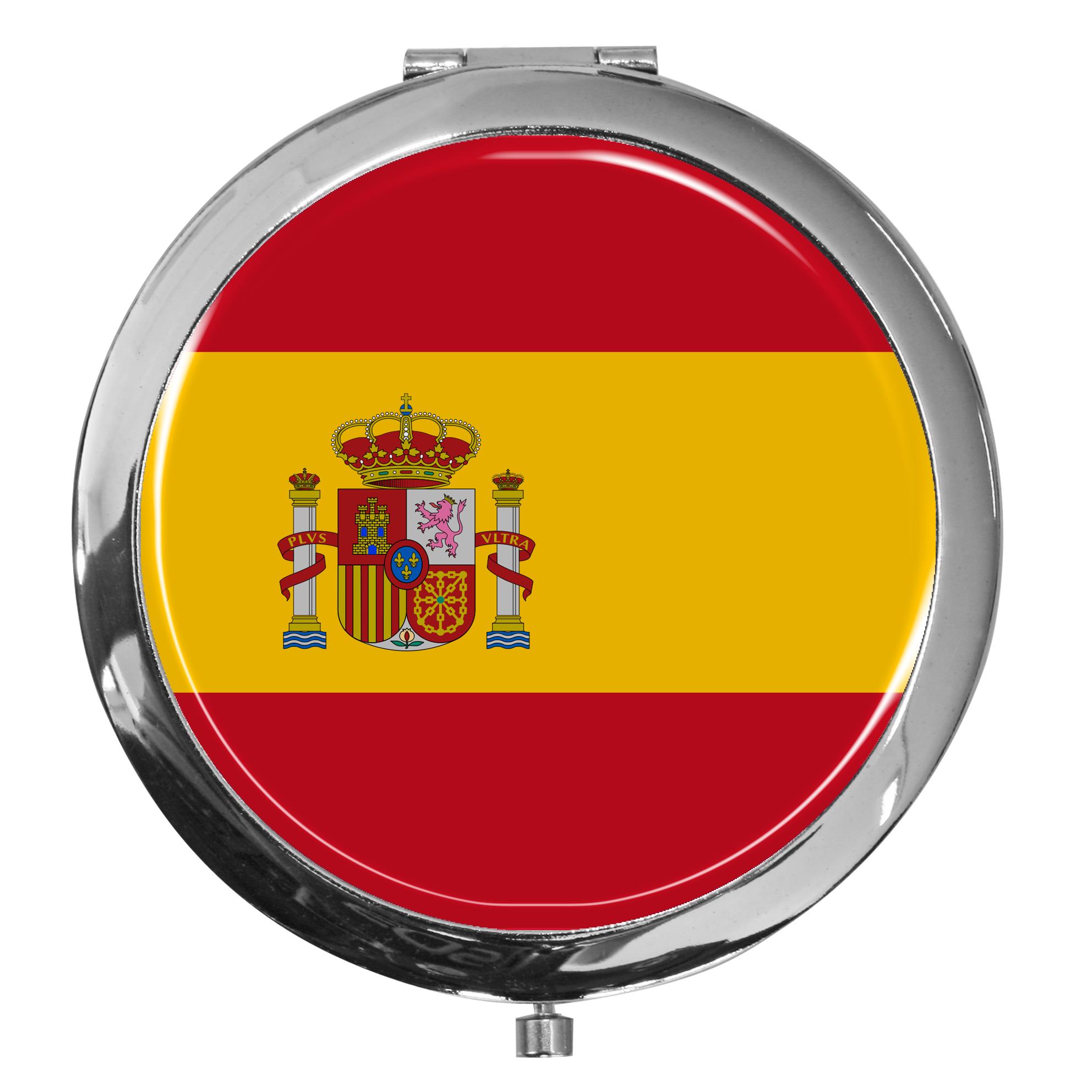 "metALUm - Extragroße Pillendose in runder Form ""Flagge Spanien"""