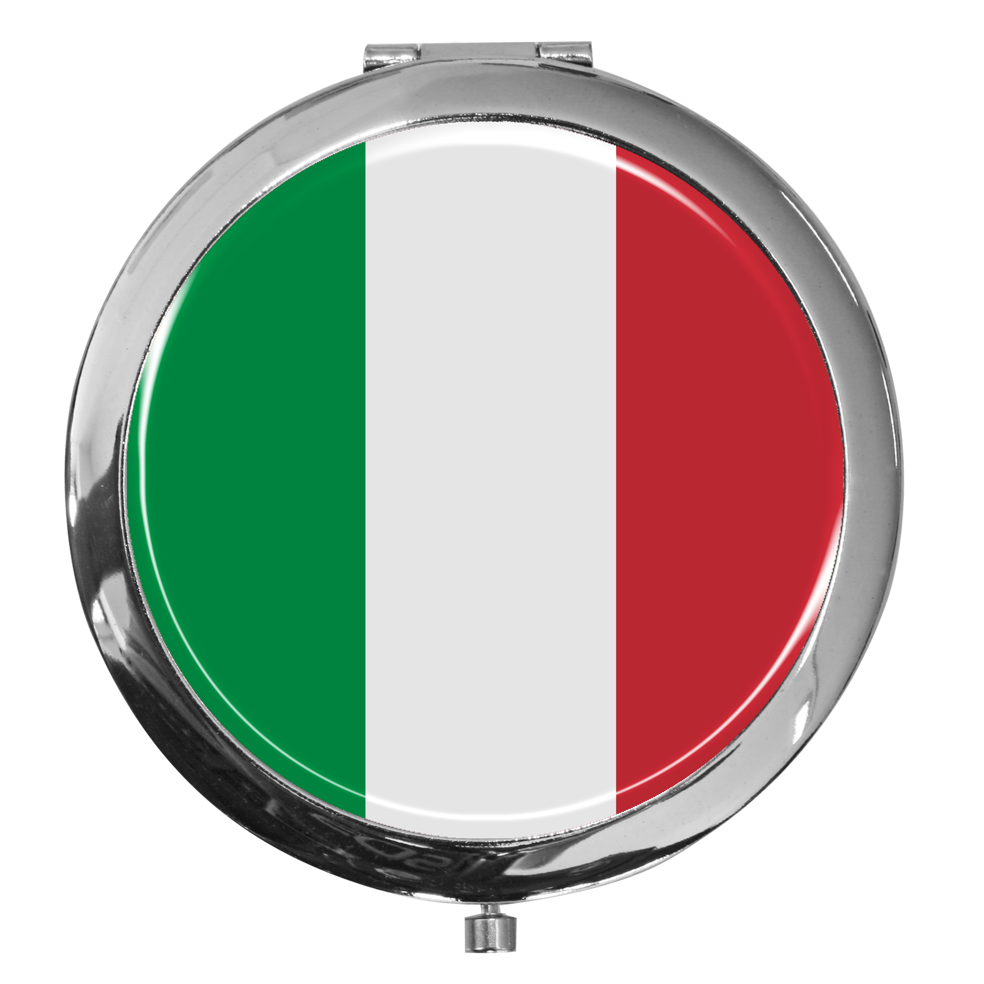 "metALUm - Extragroße Pillendose in runder Form ""Flagge Italien"""