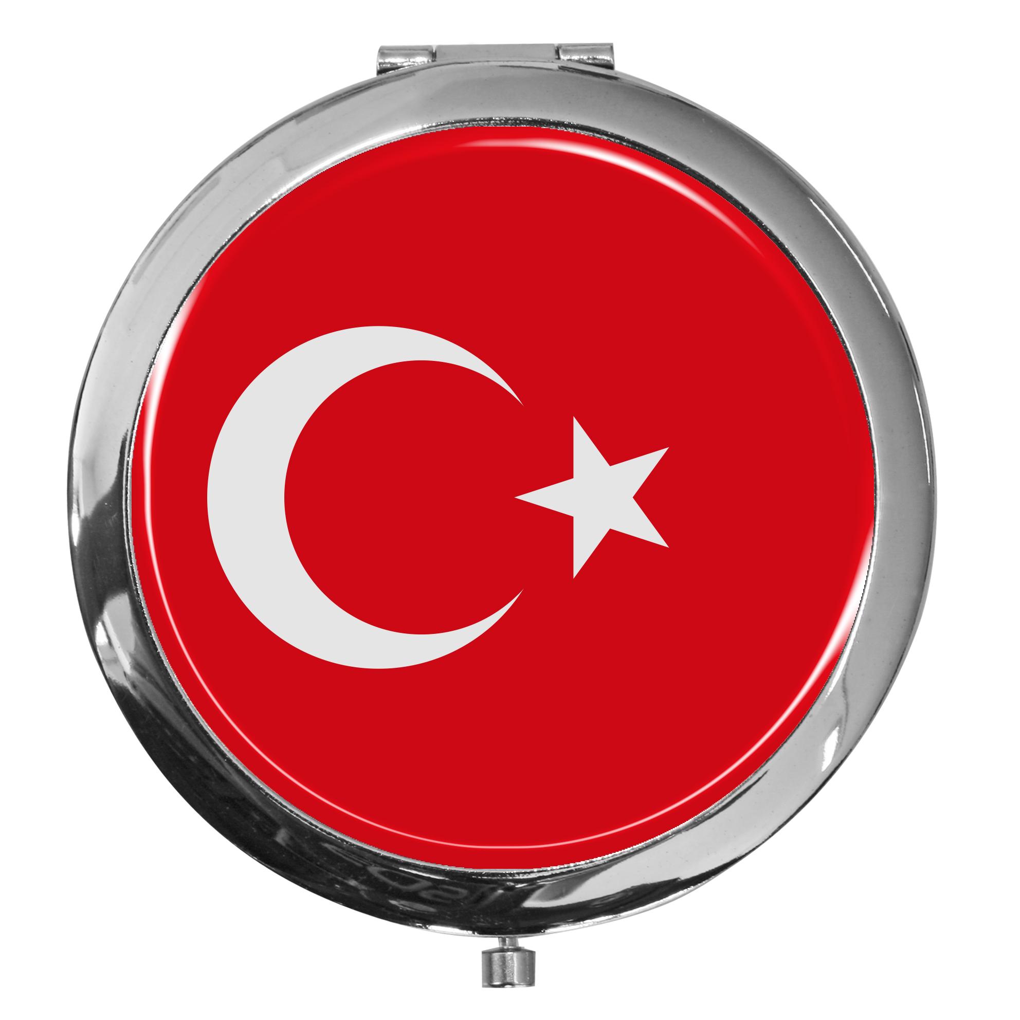 "metALUm - Extragroße Pillendose in runder Form ""Flagge Türkei"""