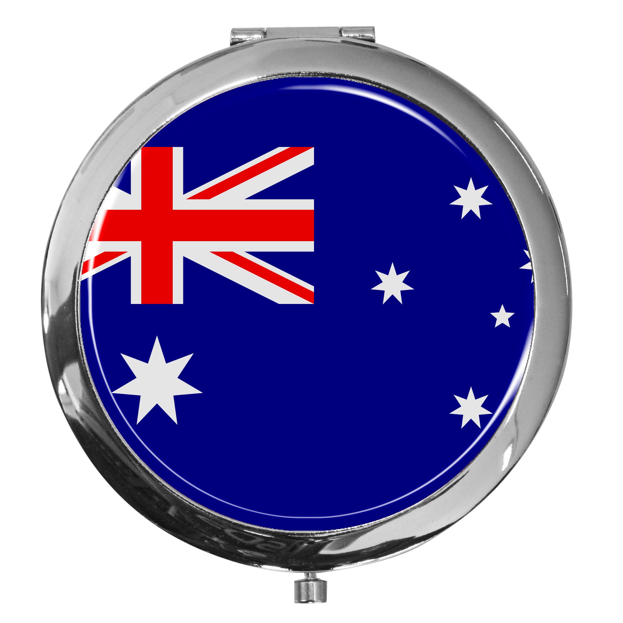 "metALUm - Extragroße Pillendose in runder Form ""Flagge Australien"""