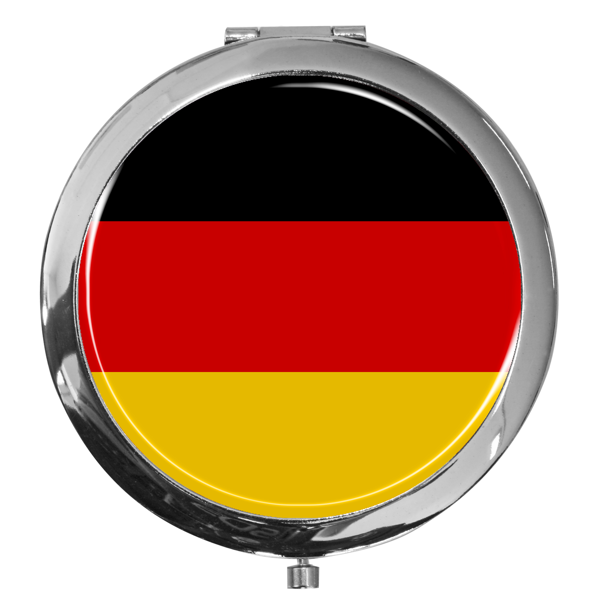 """metALUm - Extragroße Pillendose in runder Form """"Flagge Deutschland"""""""