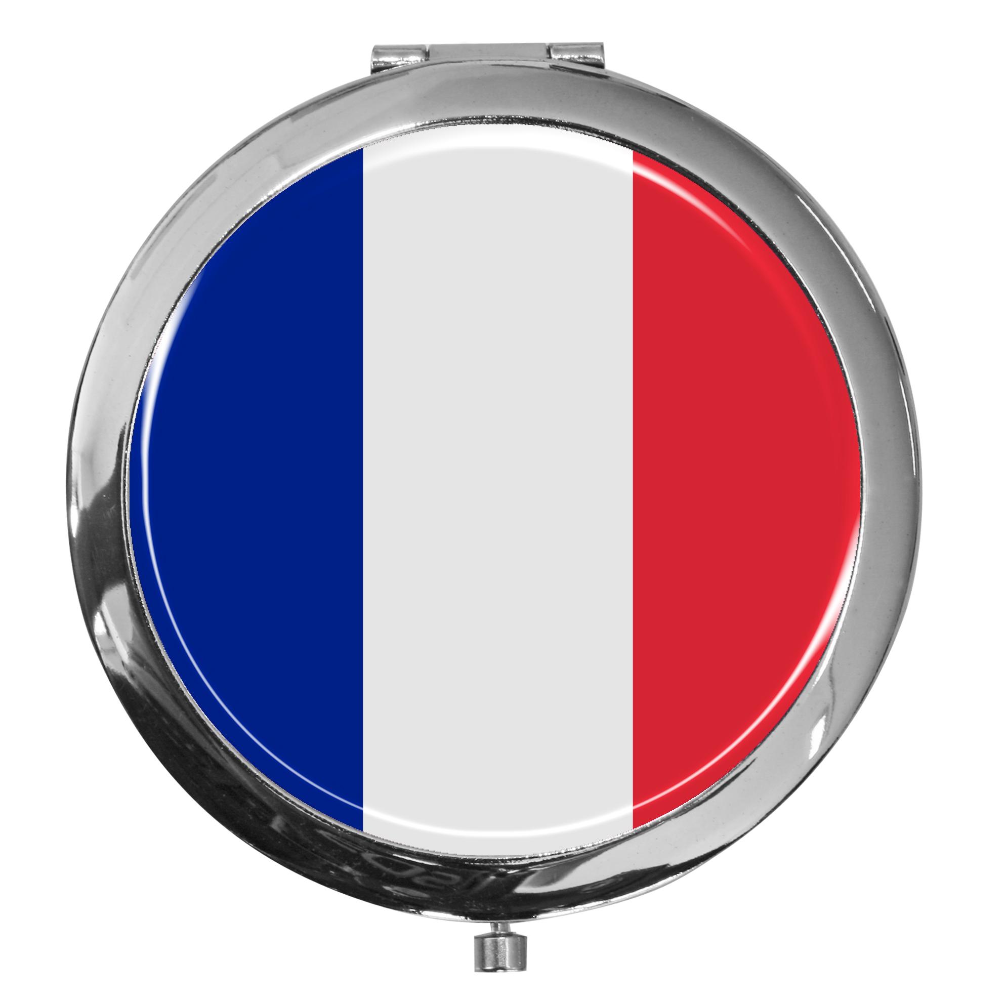 "metALUm - Extragroße Pillendose in runder Form ""Flagge Frankreich"""