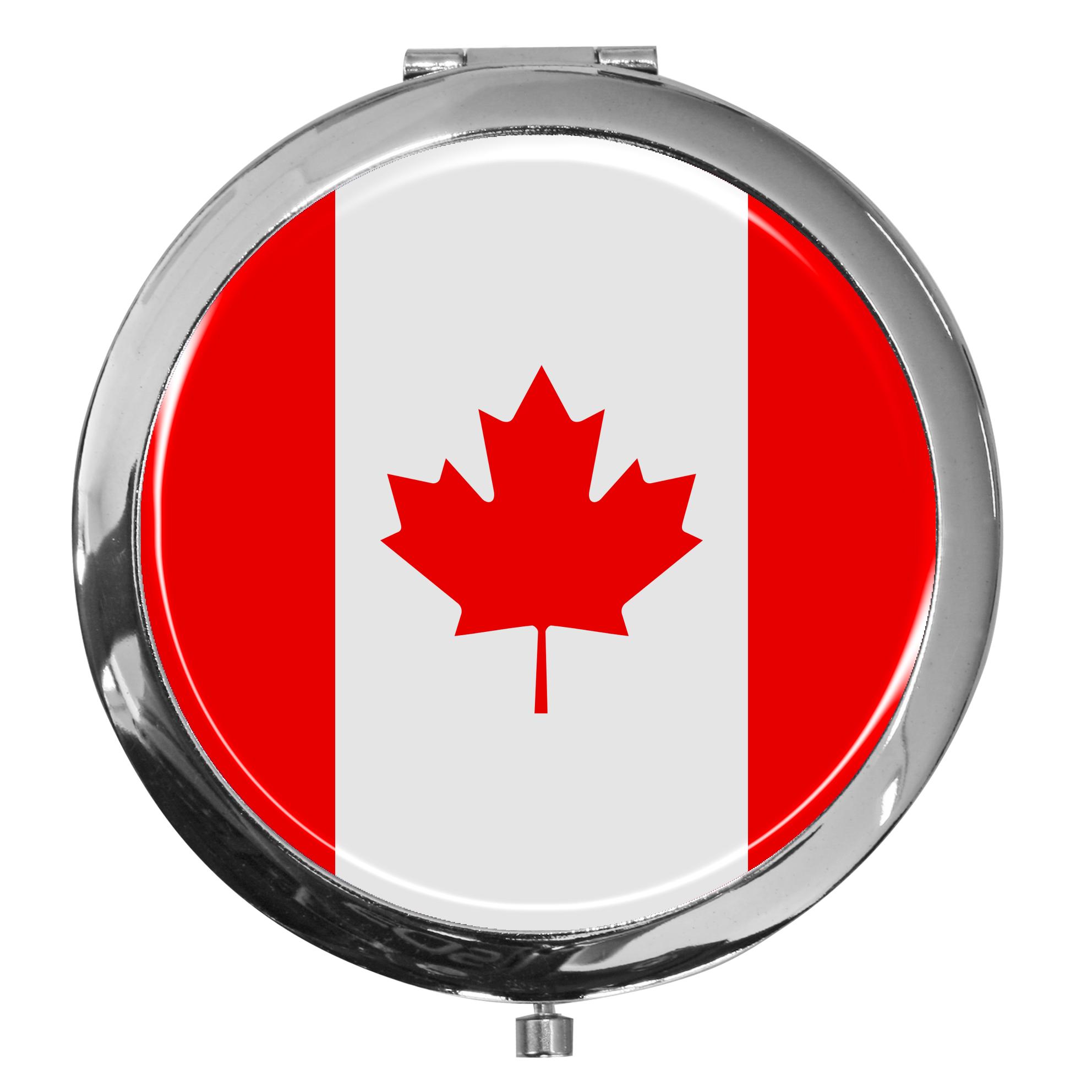 "metALUm - Extragroße Pillendose in runder Form ""Flagge Kanada"""