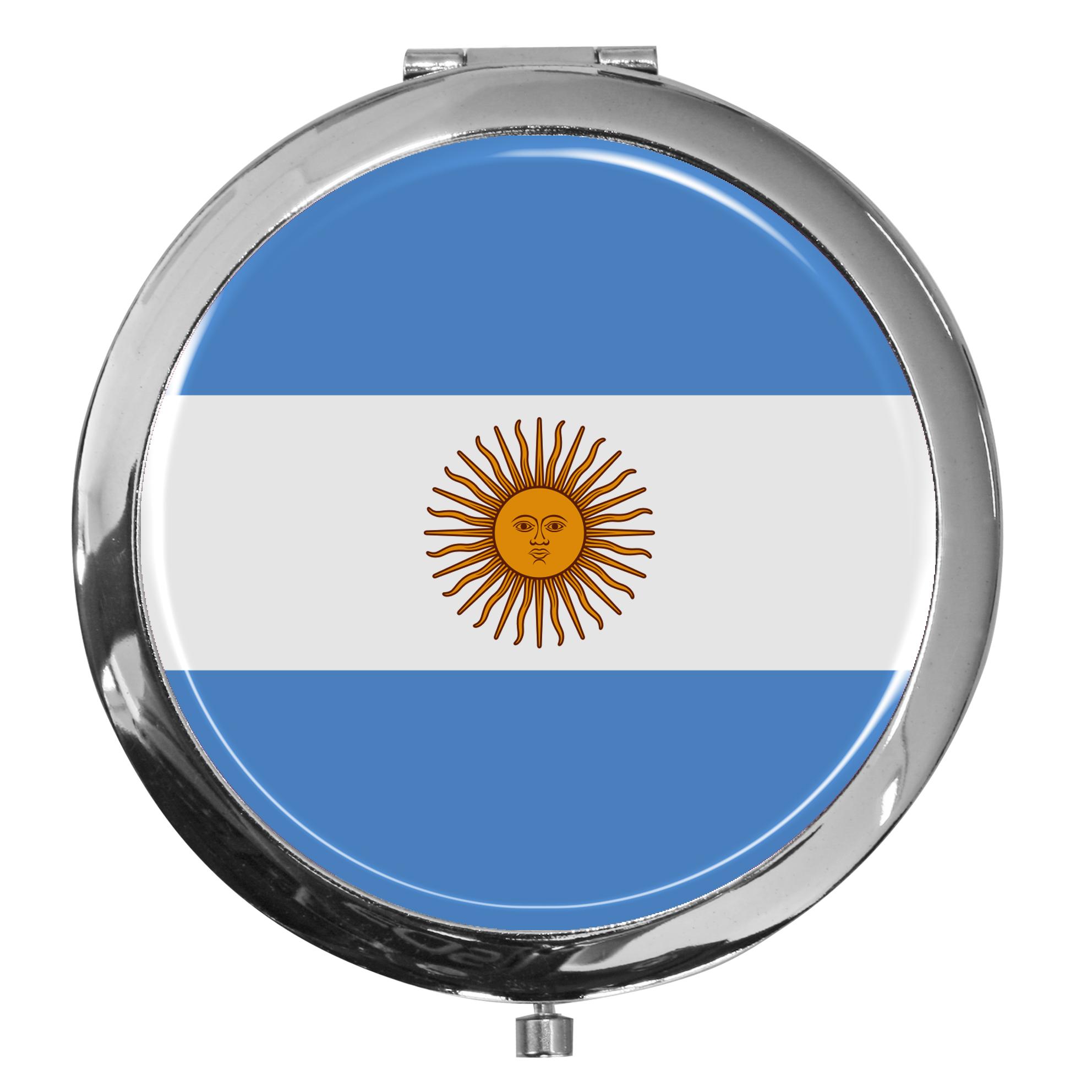 """metALUm - Extragroße Pillendose in runder Form """"Flagge Argentinien"""""""