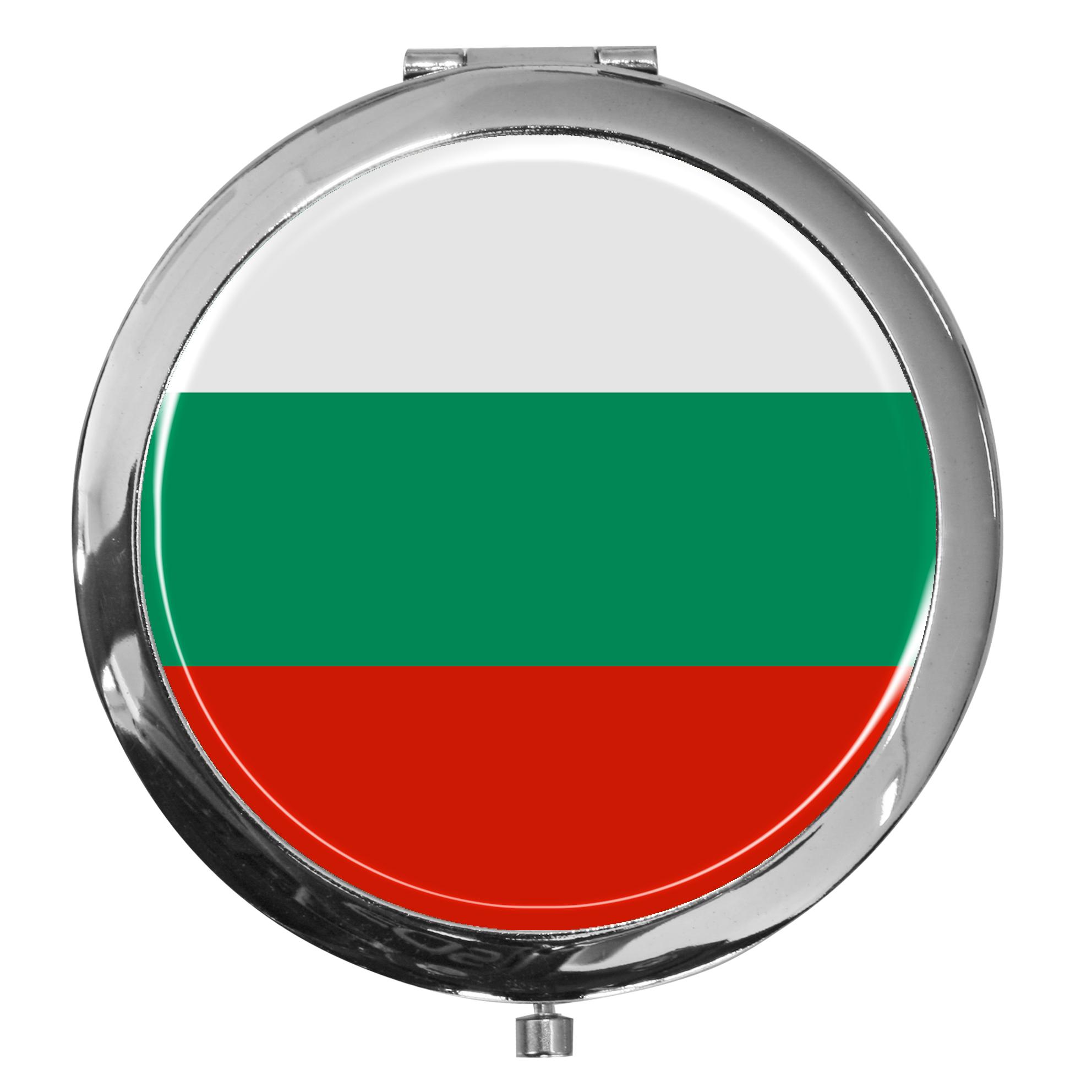 "metALUm - Extragroße Pillendose in runder Form ""Flagge Bulgarien"""
