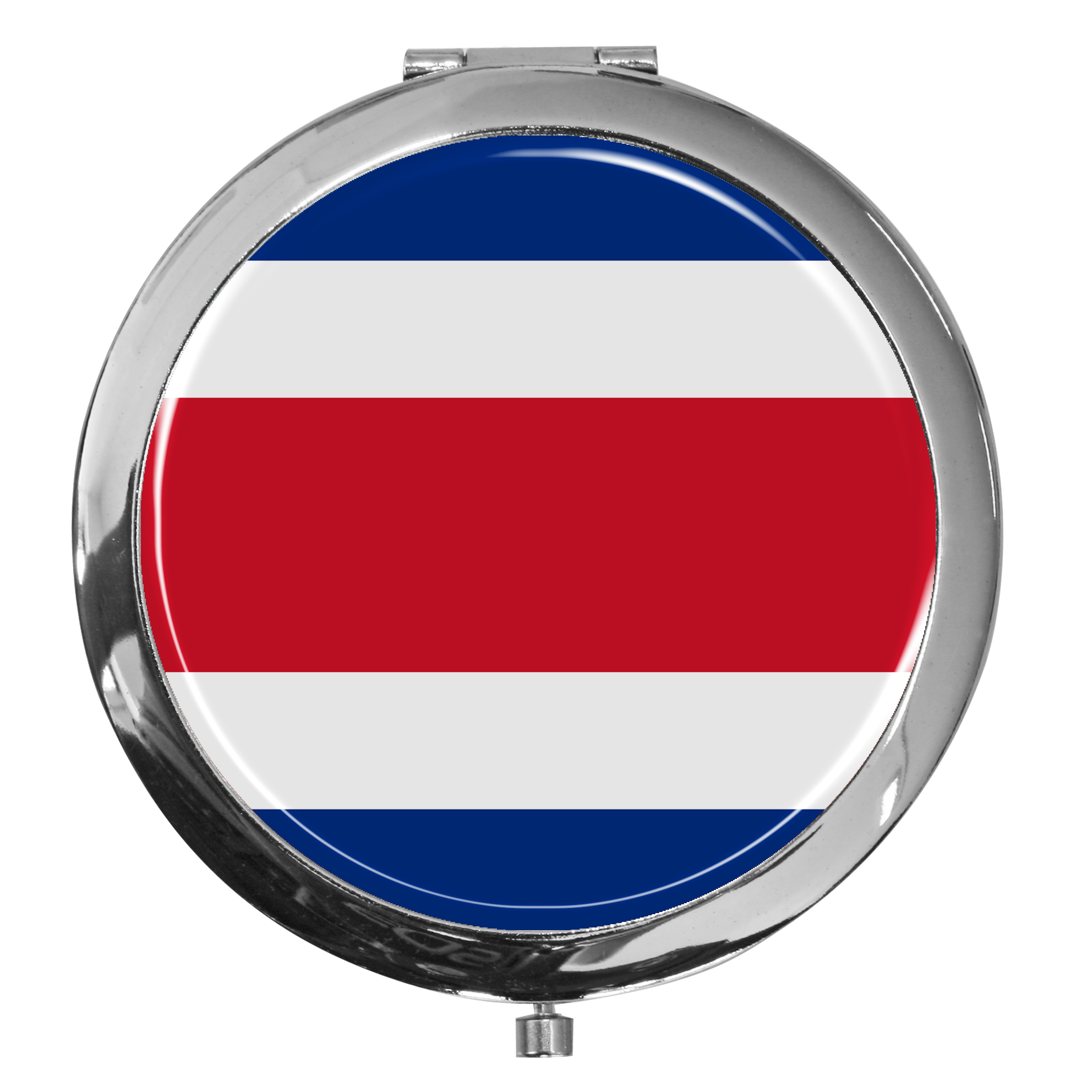 "metALUm - Extragroße Pillendose in runder Form ""Flagge Costa Rica"""