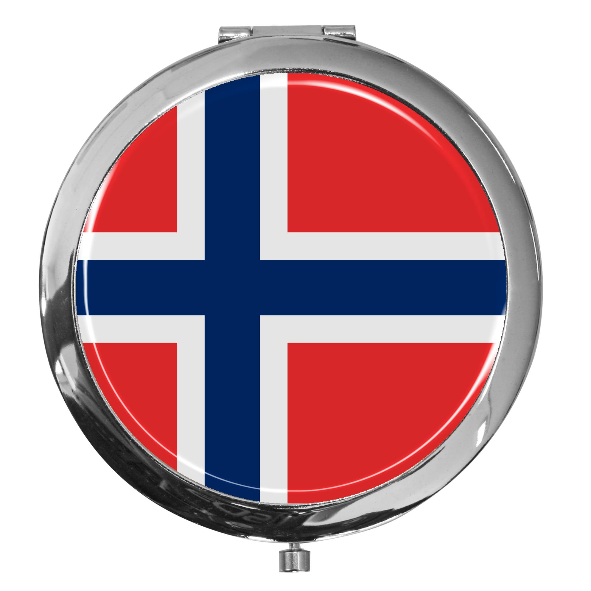 """metALUm - Extragroße Pillendose in runder Form """"Flagge Norwegen"""""""