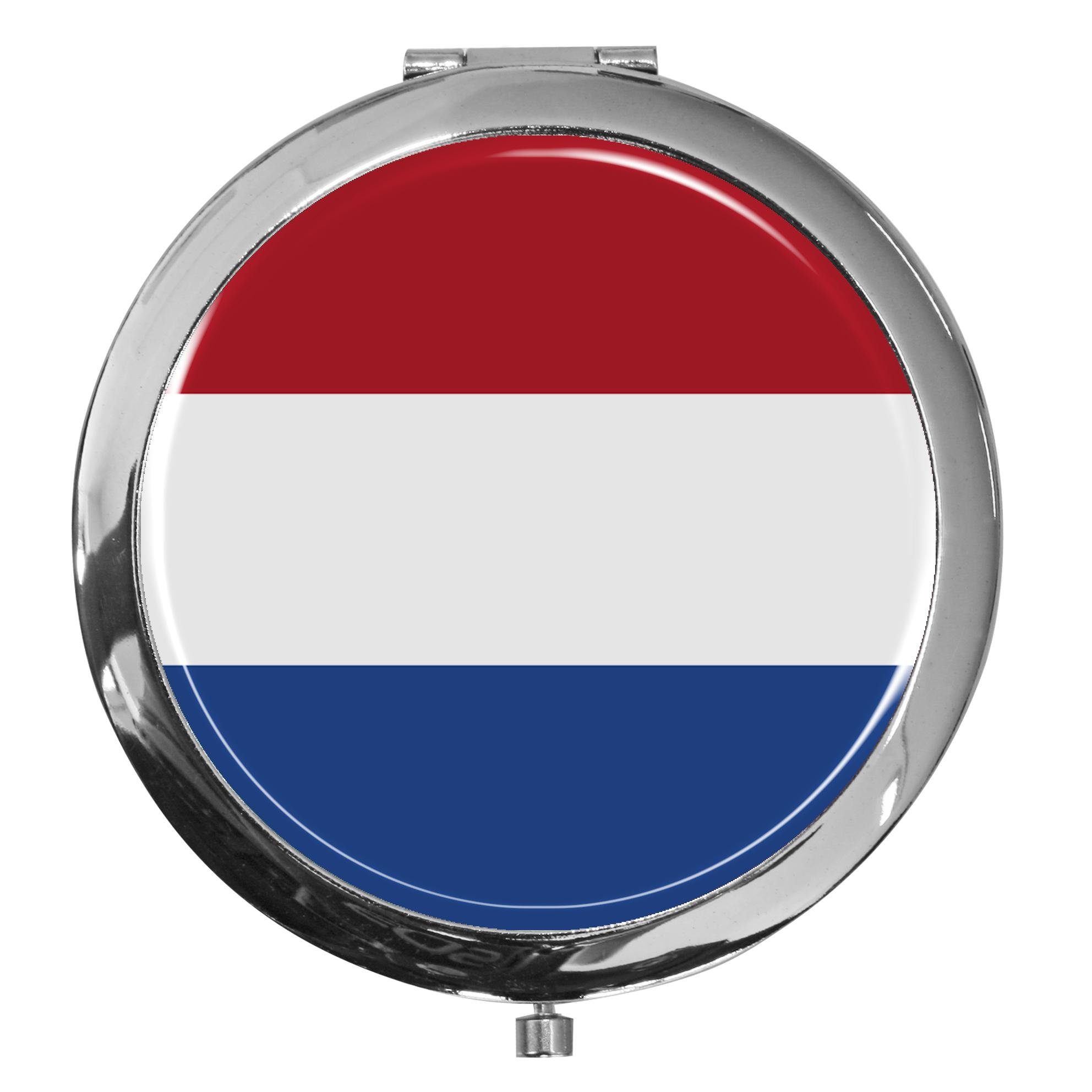 "metALUm - Extragroße Pillendose in runder Form ""Flagge Niederlande"""