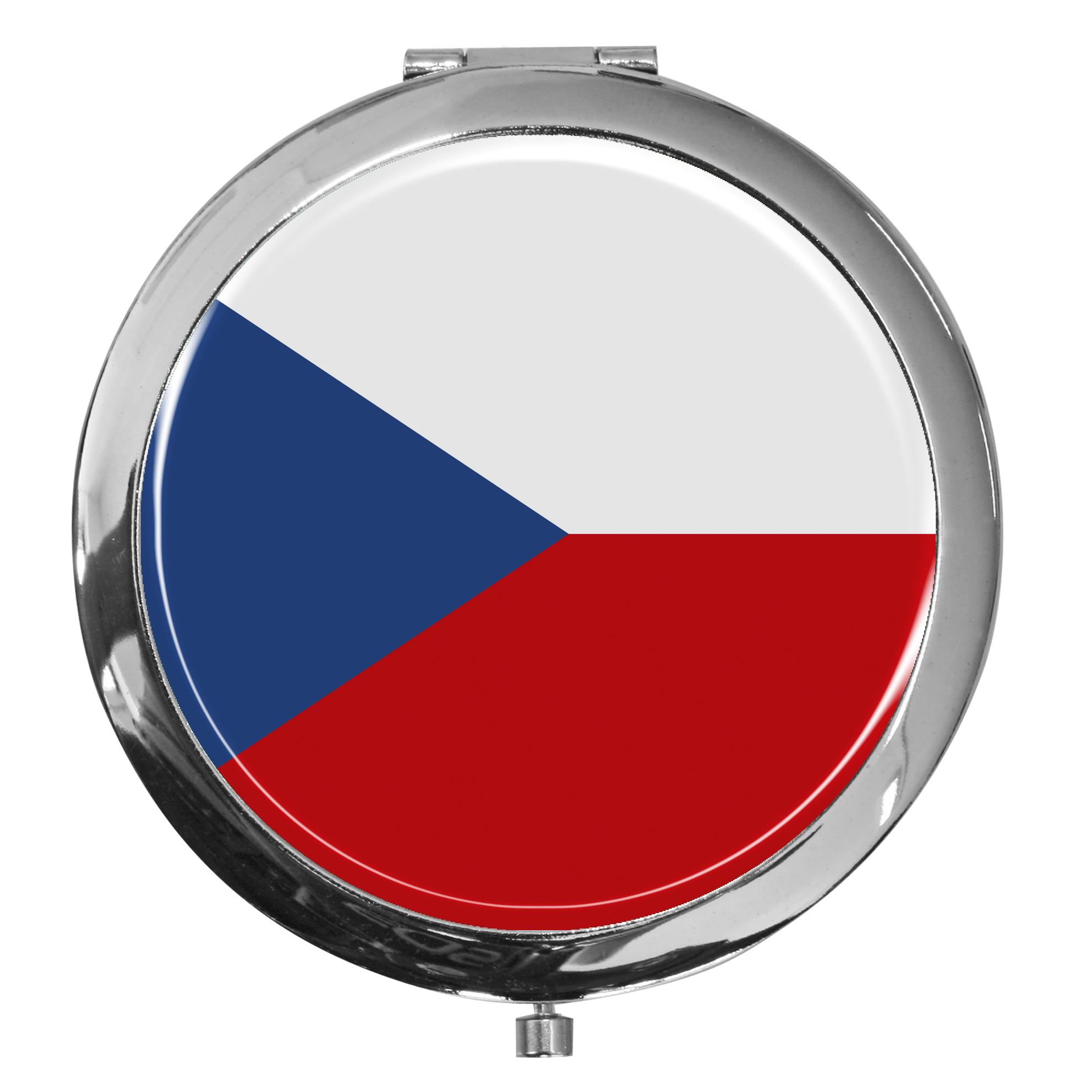 "metALUm - Extragroße Pillendose in runder Form ""Flagge Tschechien"""