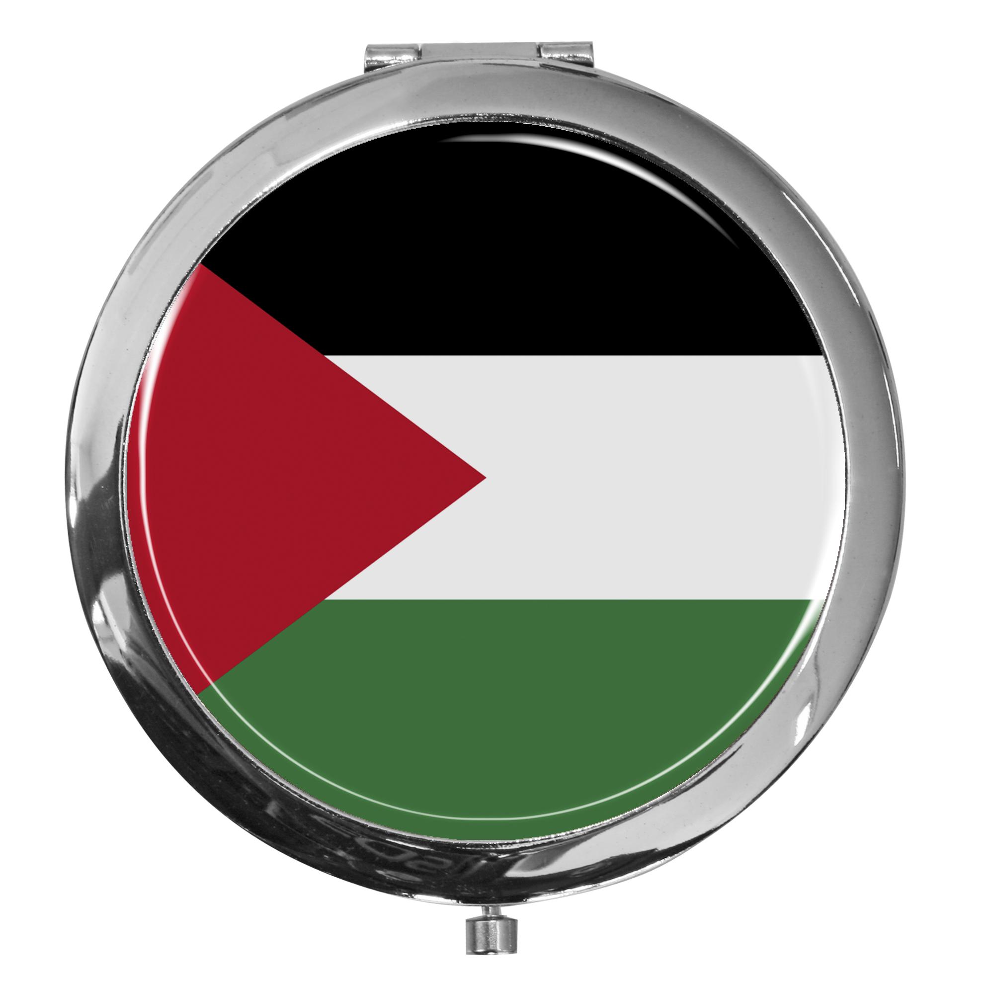 "metALUm - Extragroße Pillendose in runder Form ""Flagge Palästina"""