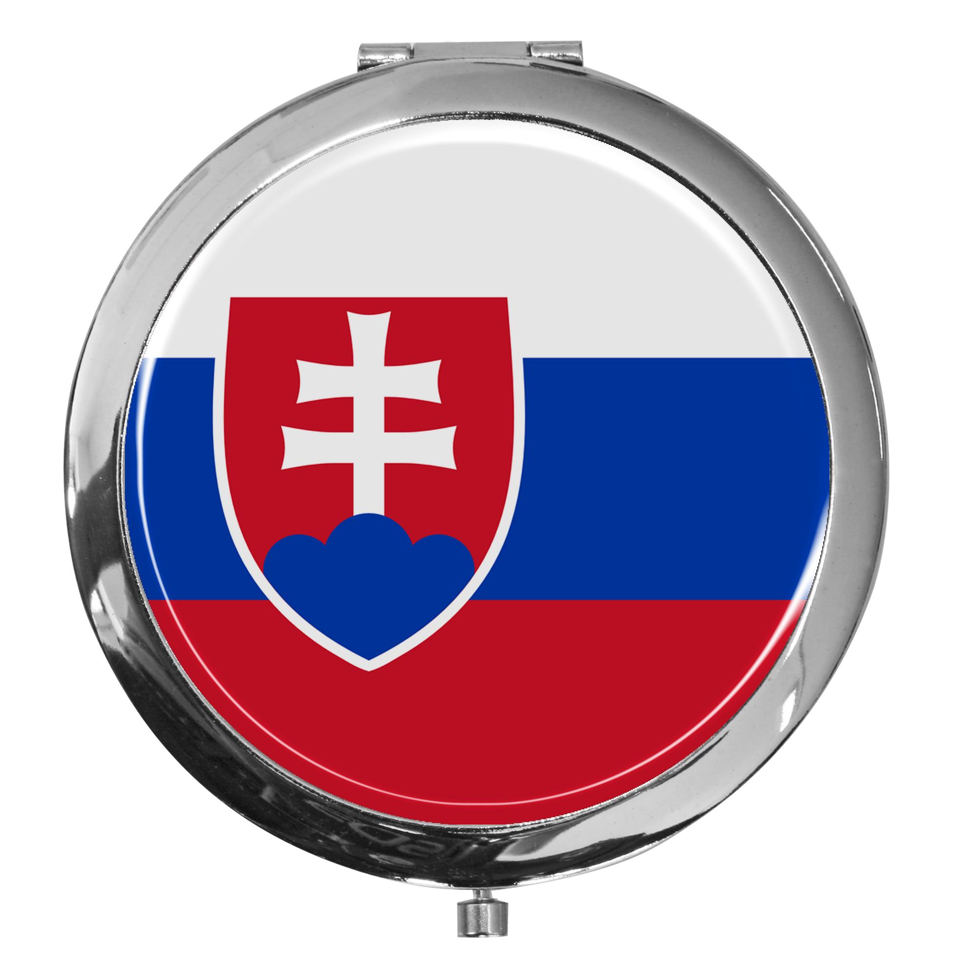 "metALUm - Extragroße Pillendose in runder Form ""Flagge Slowakien"""