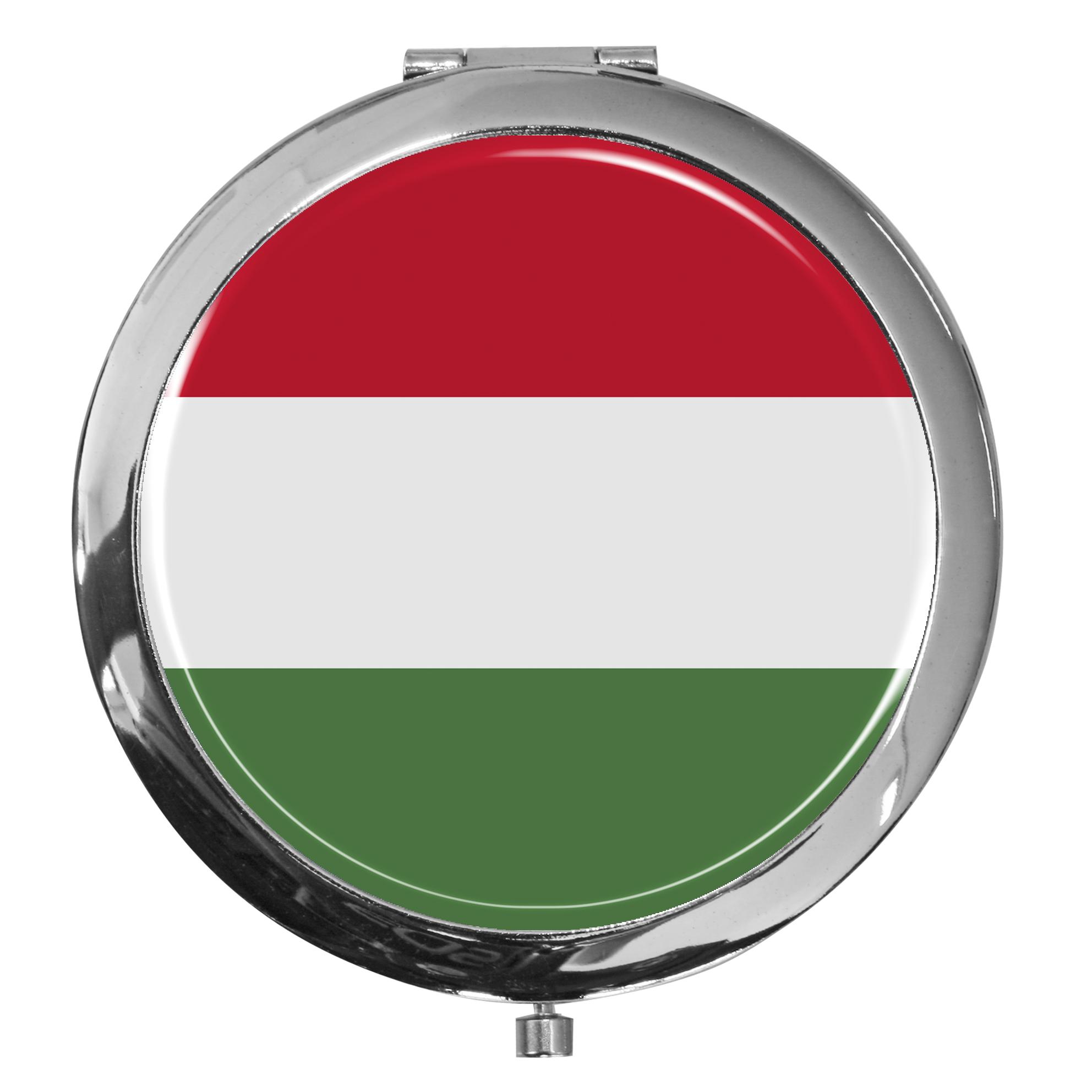 "metALUm - Extragroße Pillendose in runder Form ""Flagge Ungarn"""
