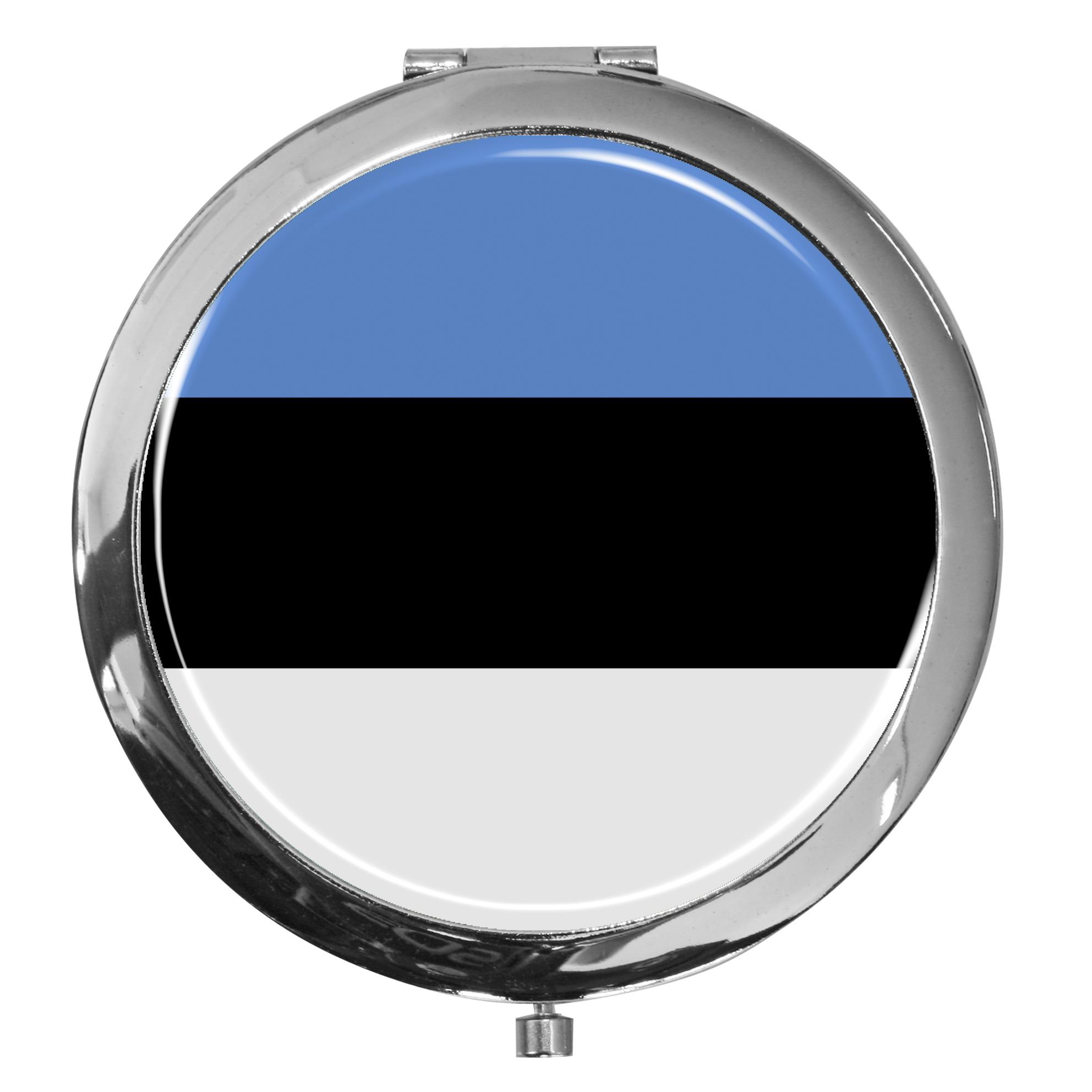"metALUm - Extragroße Pillendose in runder Form ""Flagge Estland"""