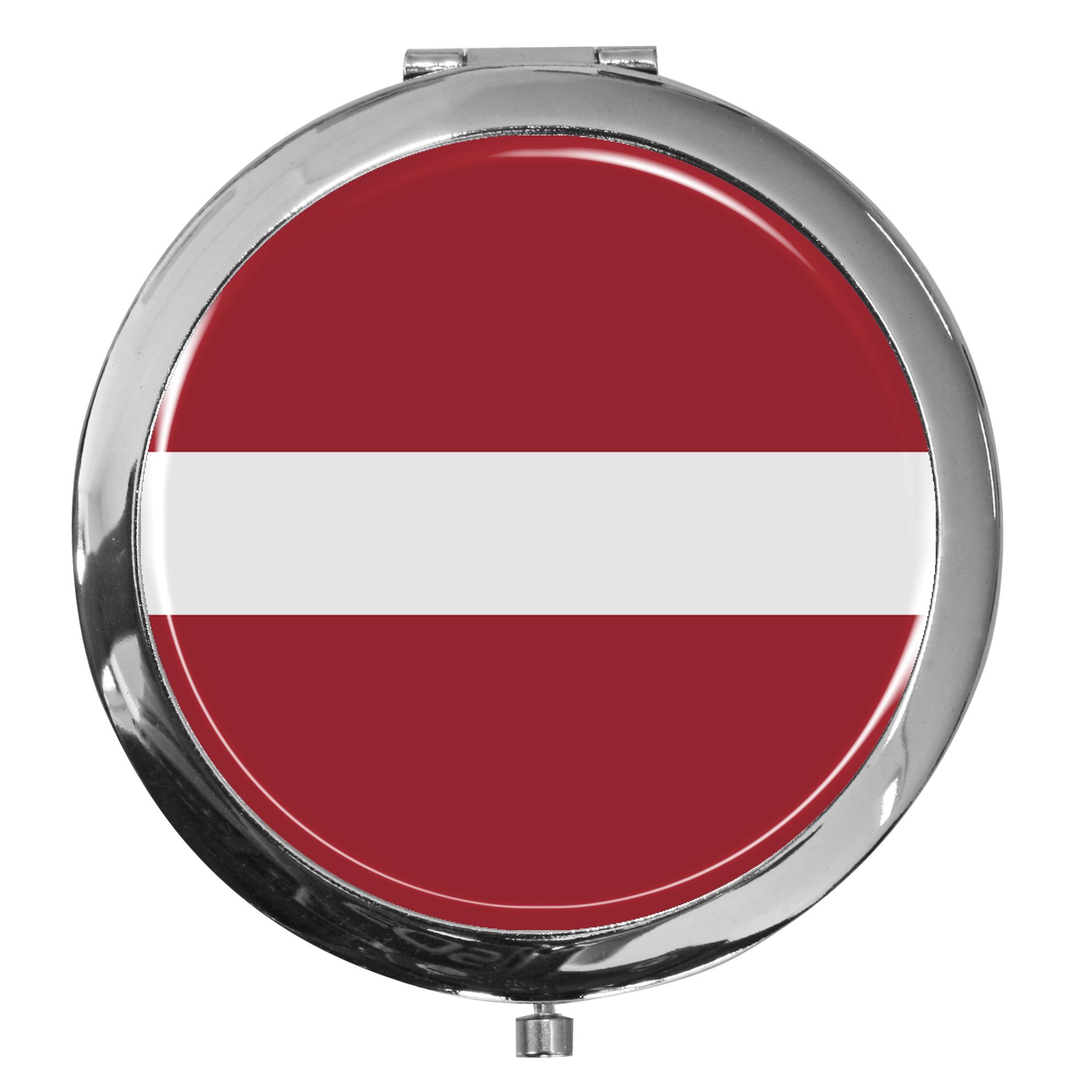 """metALUm - Extragroße Pillendose in runder Form """"Flagge Lettland"""""""