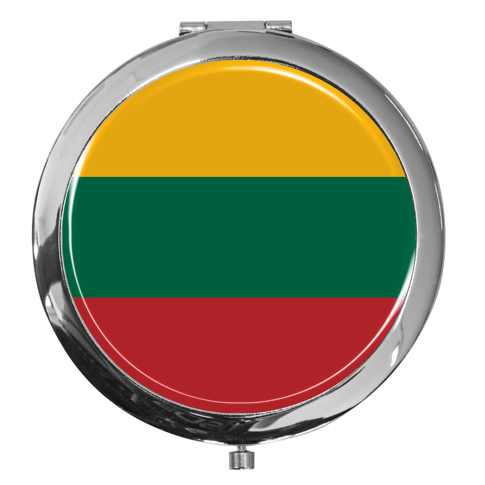 "metALUm - Extragroße Pillendose in runder Form ""Flagge Litauen"""