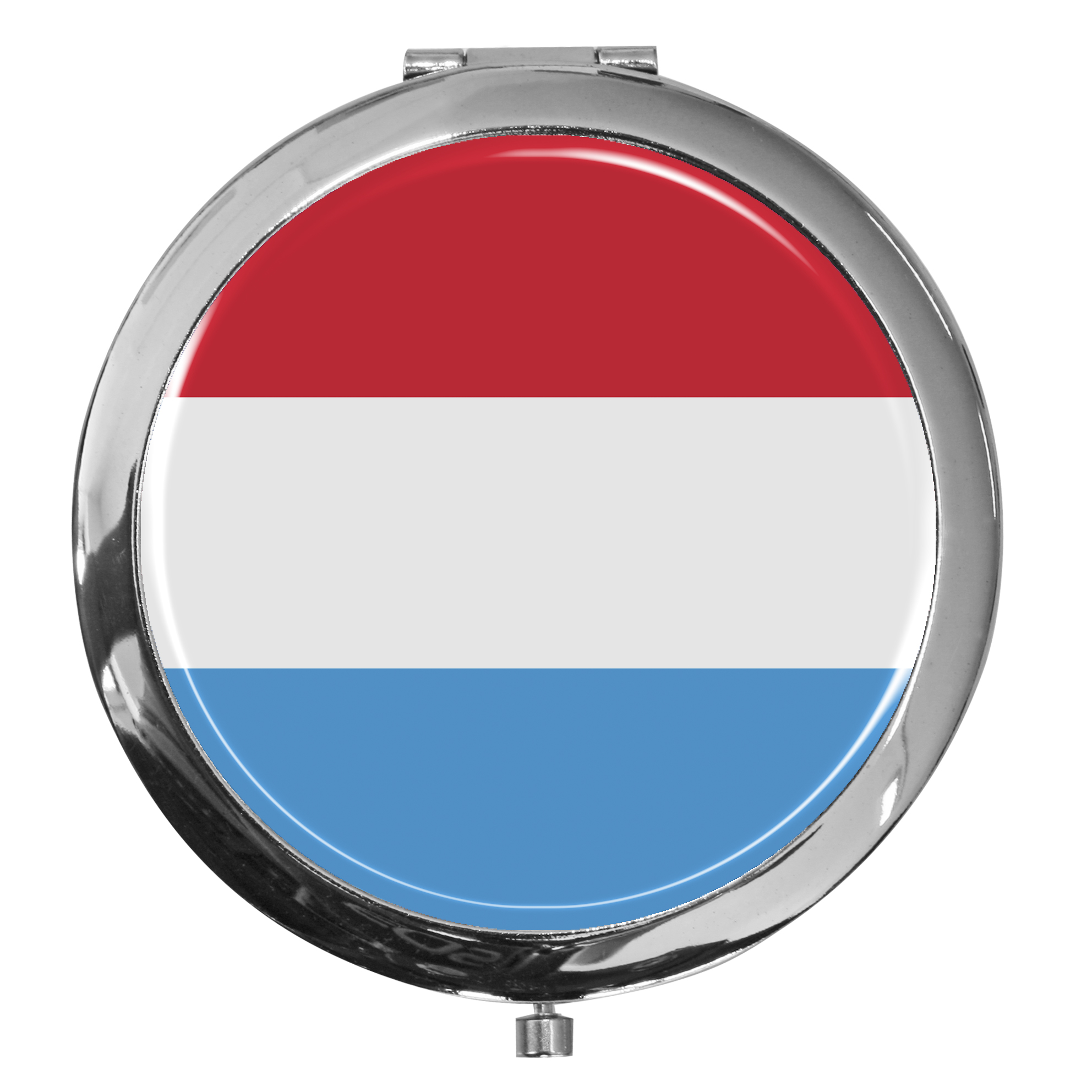 "metALUm - Extragroße Pillendose in runder Form ""Flagge Luxemburg"""