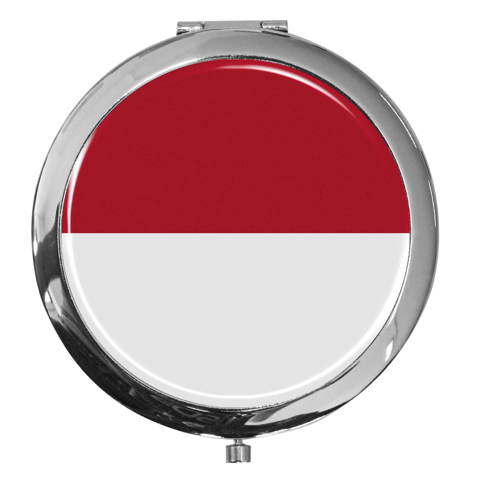 "metALUm - Extragroße Pillendose in runder Form ""Flagge Monaco"""