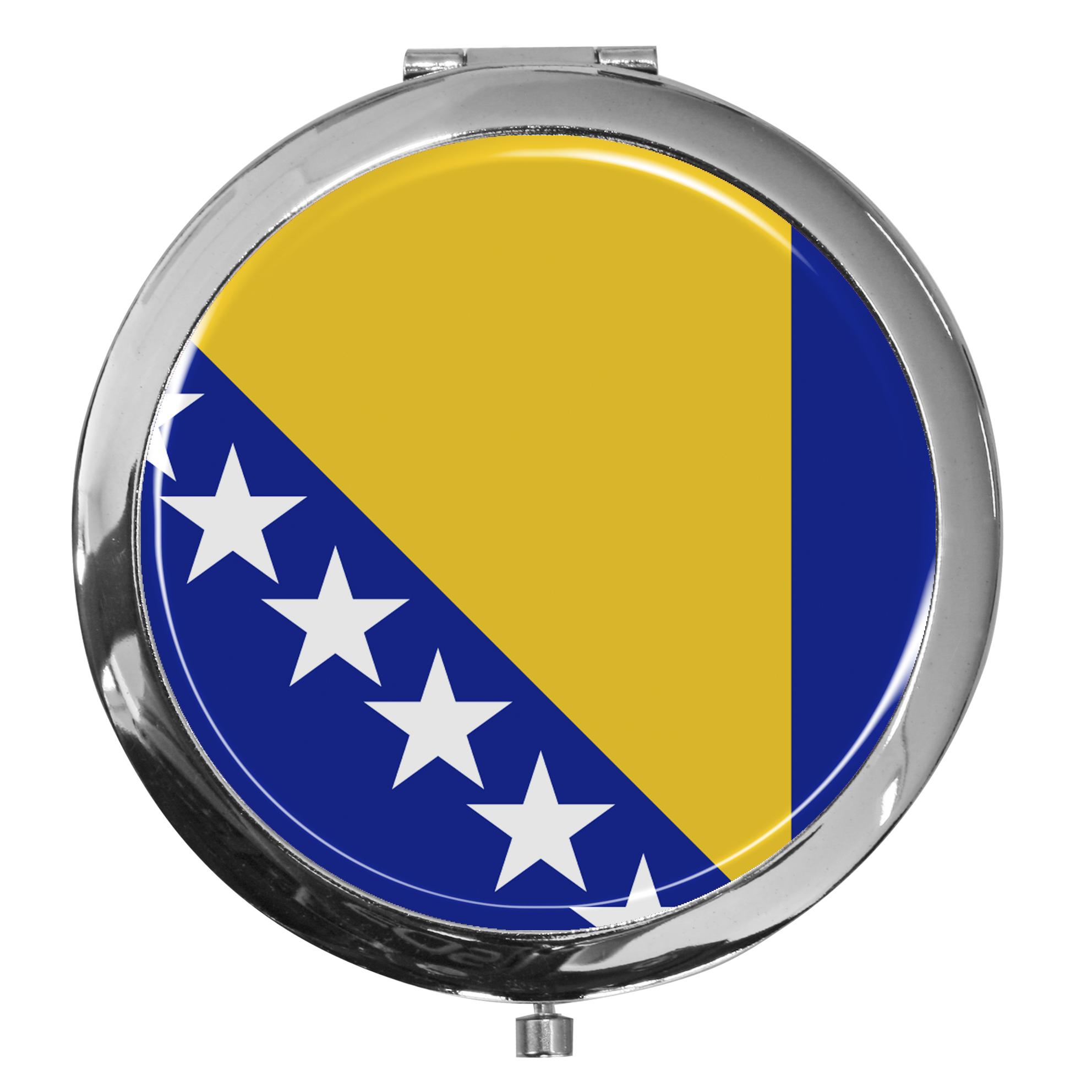 """metALUm - Extragroße Pillendose in runder Form """"Flagge Bosnien-Herzegowina"""""""