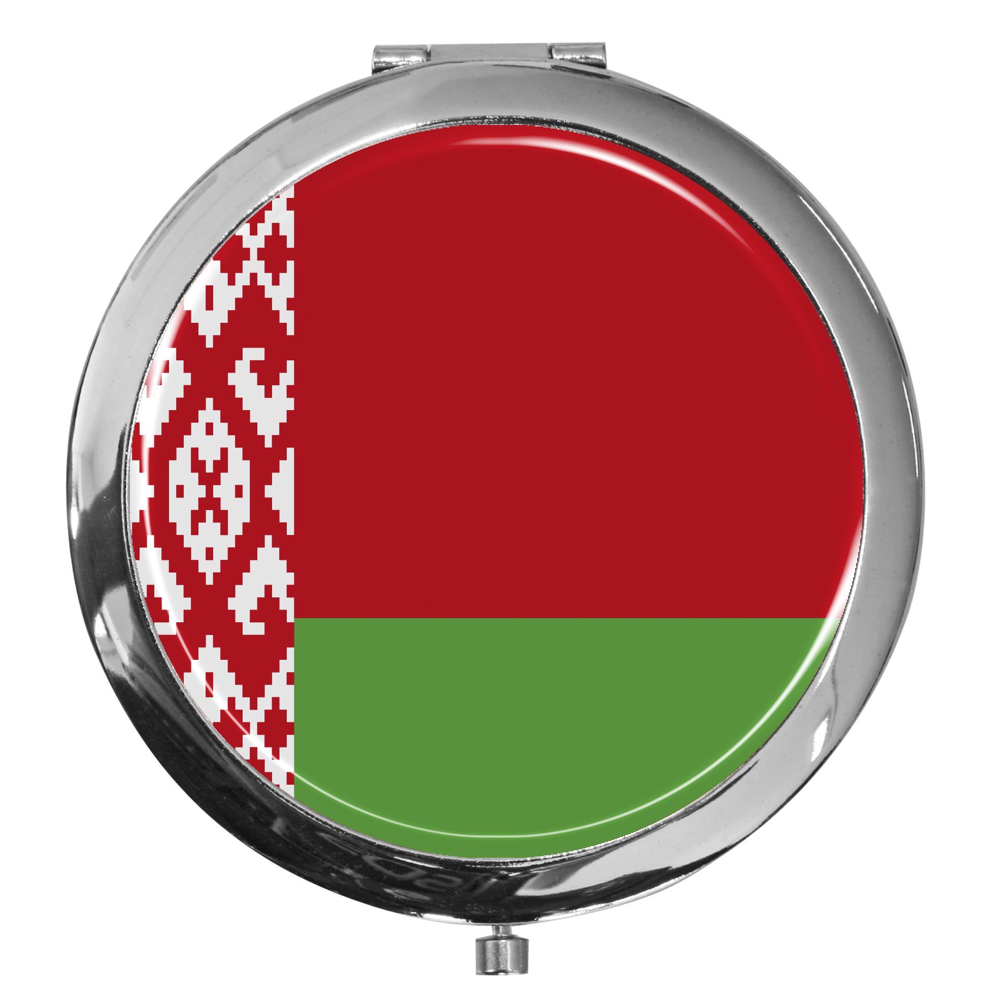 """metALUm - Extragroße Pillendose in runder Form """"Flagge Weißrussland"""""""