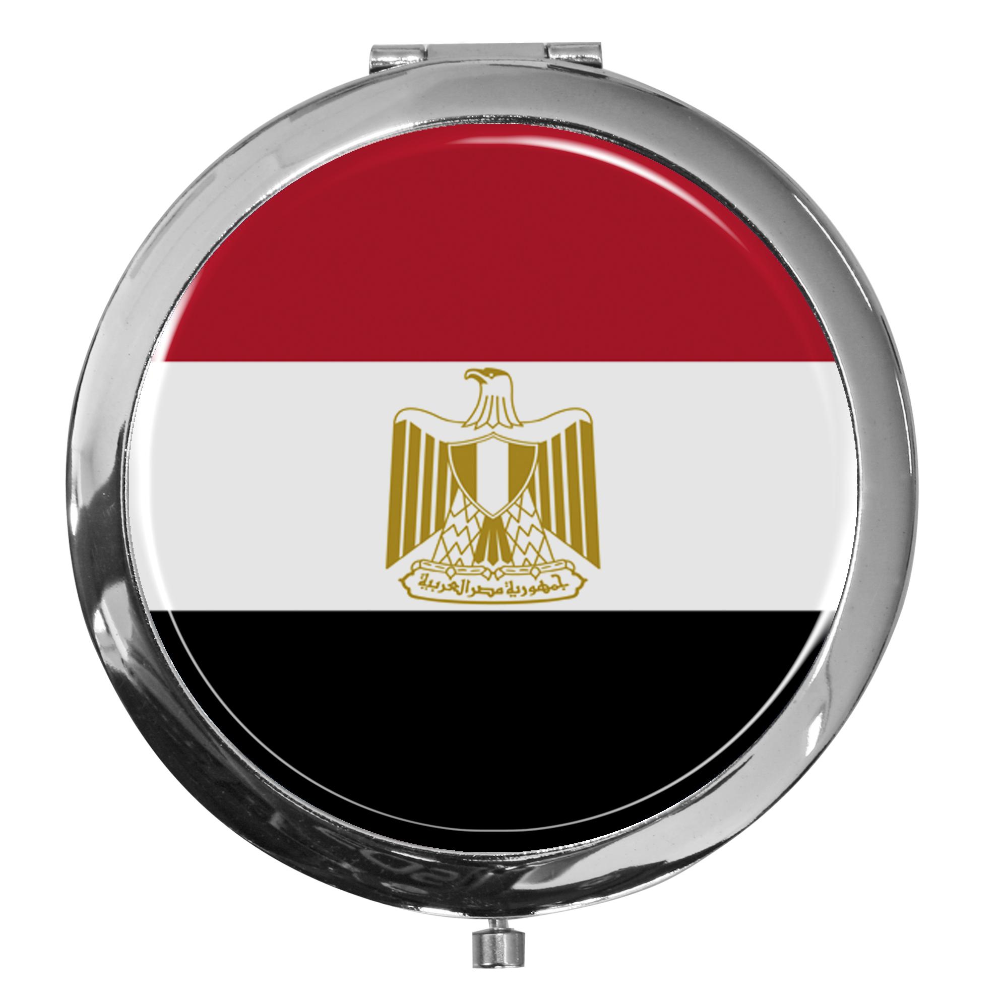 """metALUm - Extragroße Pillendose in runder Form """"Flagge Ägypten"""""""