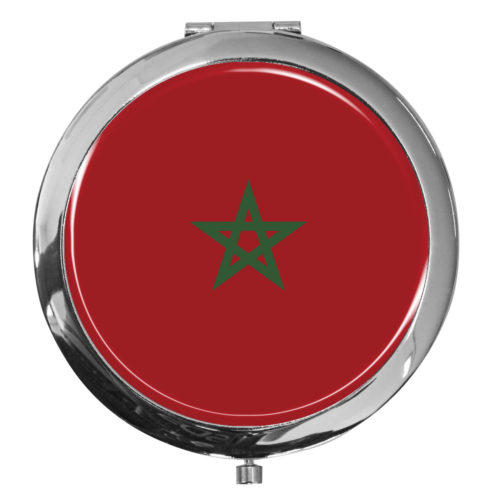 "metALUm - Extragroße Pillendose in runder Form ""Flagge Marokko"""