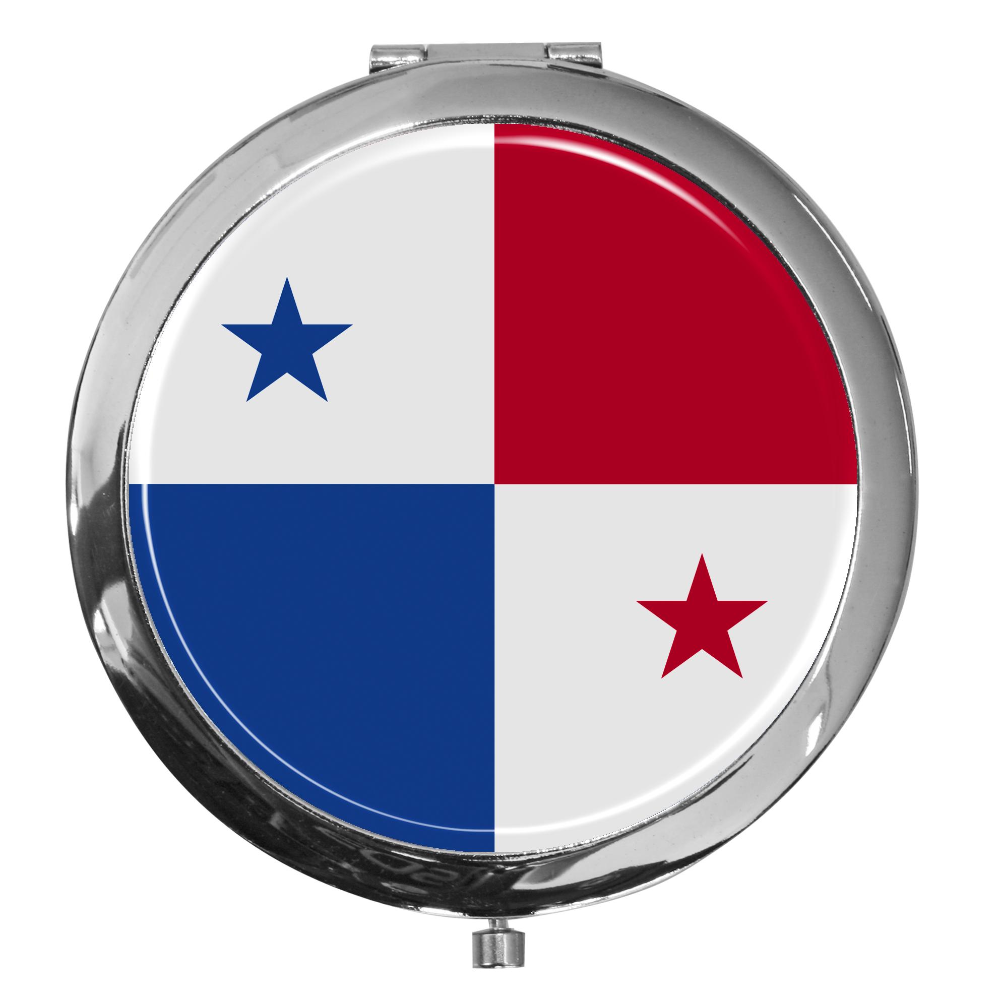 "metALUm - Extragroße Pillendose in runder Form ""Flagge Panama"""