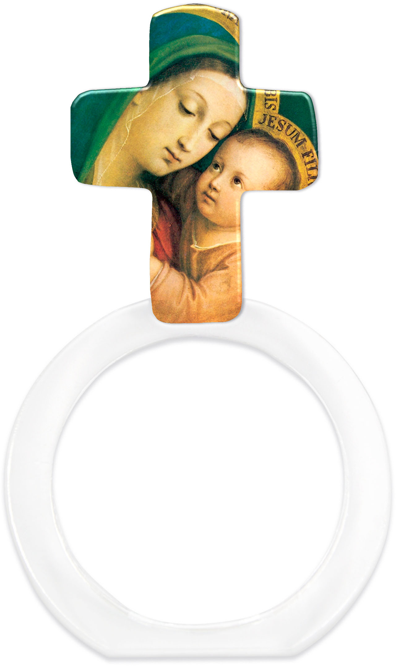 "metALUm - Serviettenringe  im 6er Set in Kreuz - Form ""Jungfrau Maria mit Kind"""