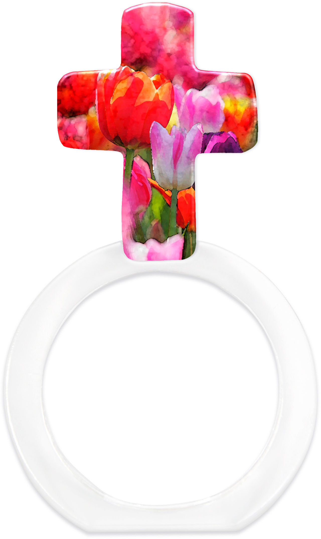 """metALUm - Serviettenringe  im 6er Set in Kreuz - Form """"Tulpen"""""""