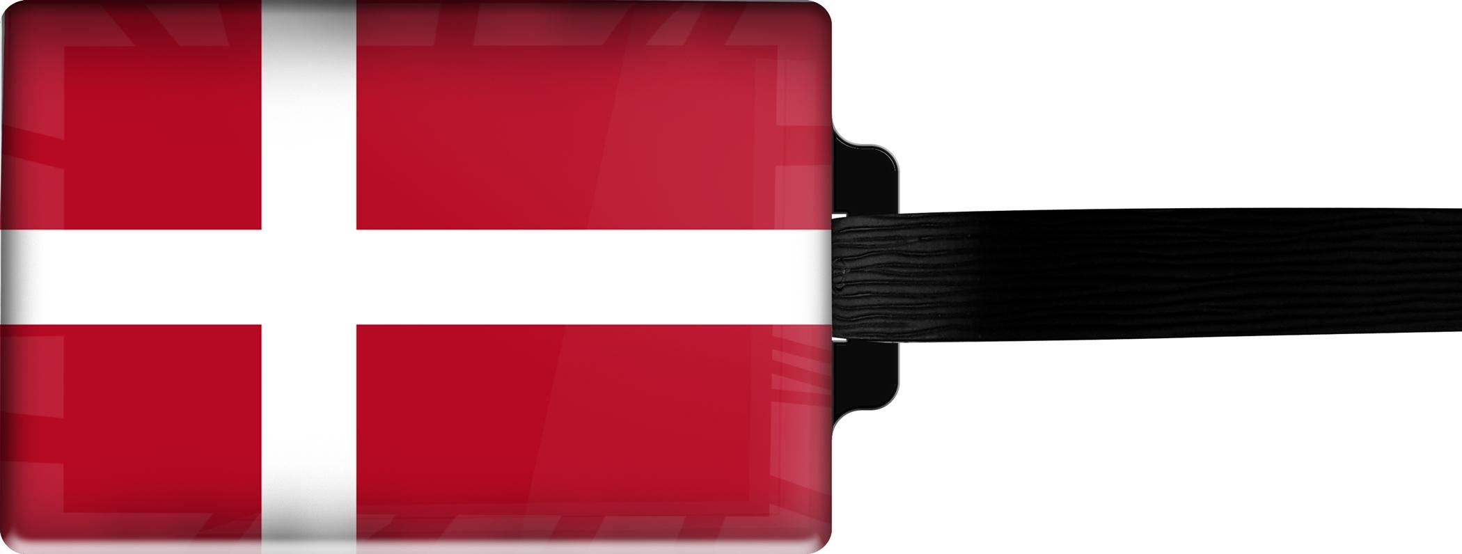 Hochwertiger Gepäckanhänger aus Acrylglas | FLAGGE DÄNEMARK | metALUm #00069