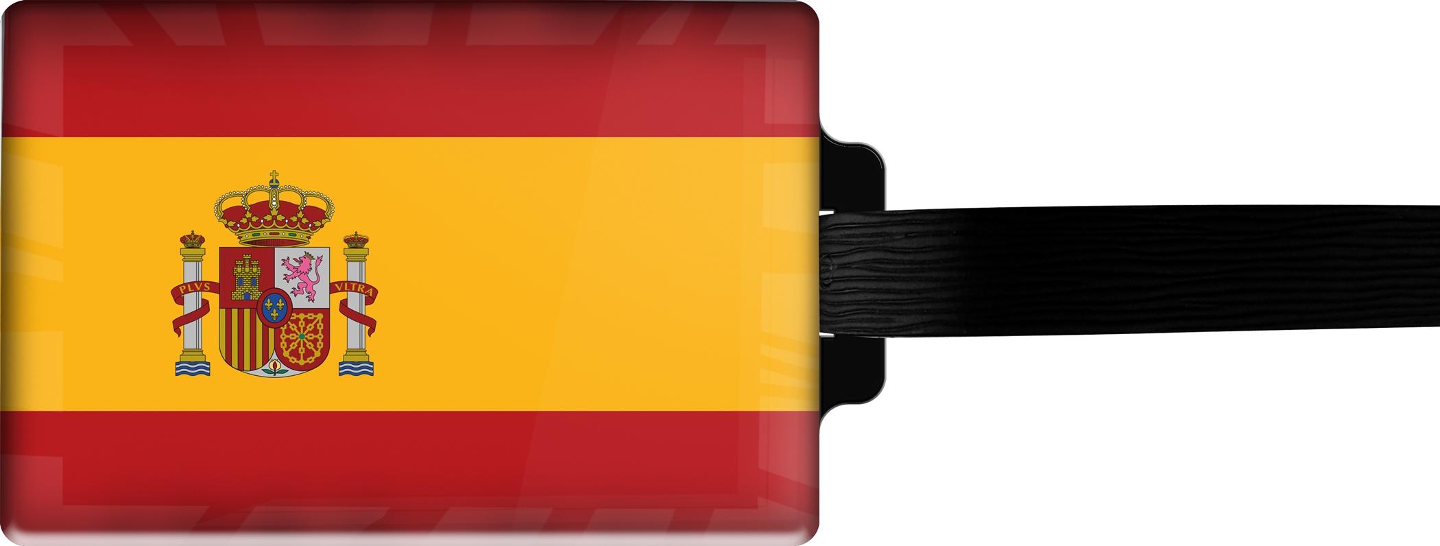 Hochwertiger Gepäckanhänger aus Acrylglas | FLAGGE SPANIEN | metALUm #00071