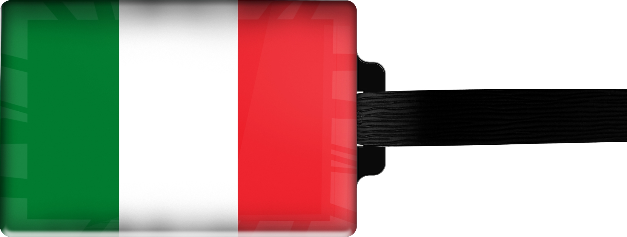 Hochwertiger Gepäckanhänger aus Acrylglas | FLAGGE ITALIEN | metALUm #00072
